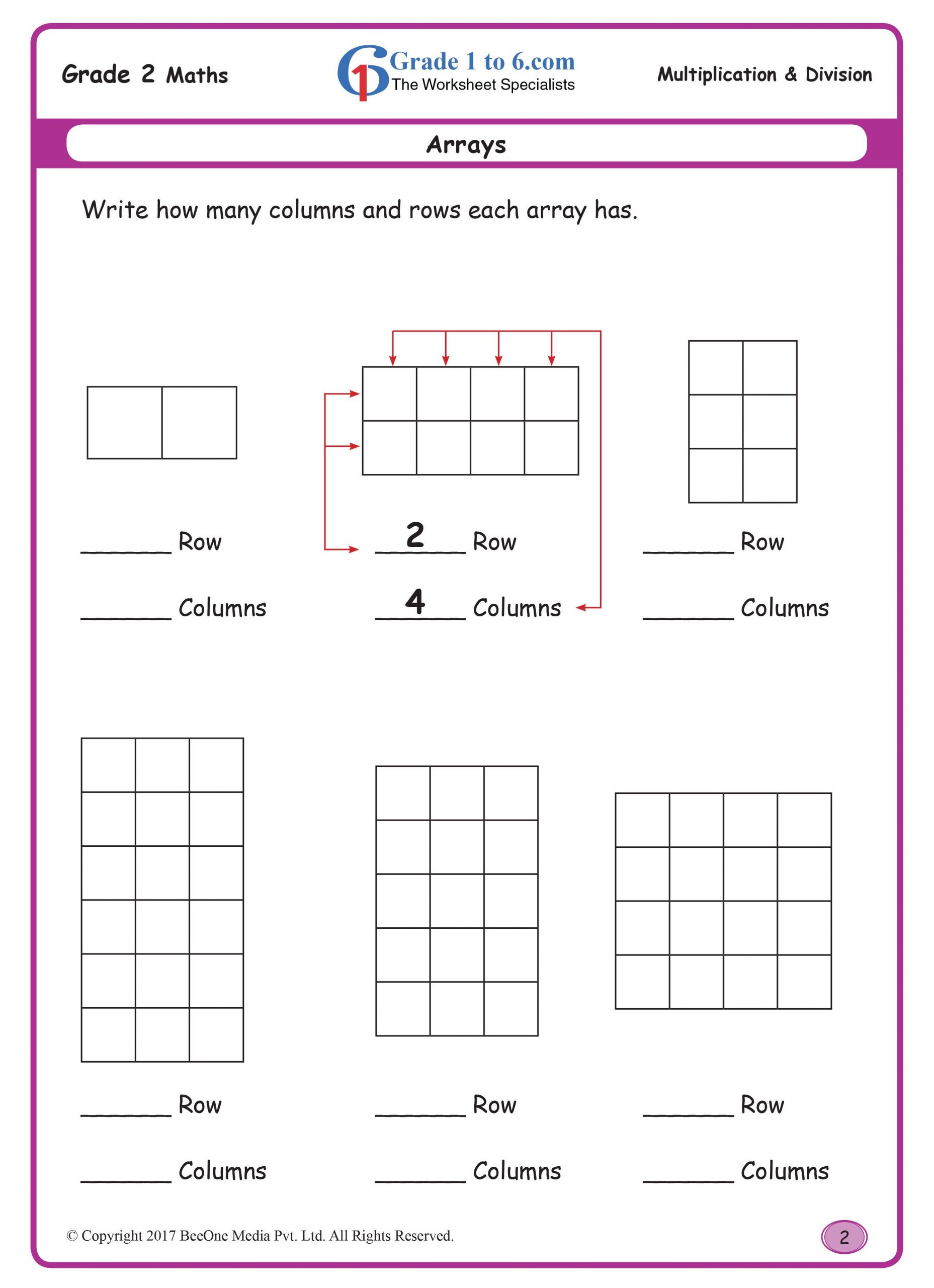 Arrays Worksheets Grade 2 Arrays Buy the Entire E Workbook Of 300 Plus Pages for Just