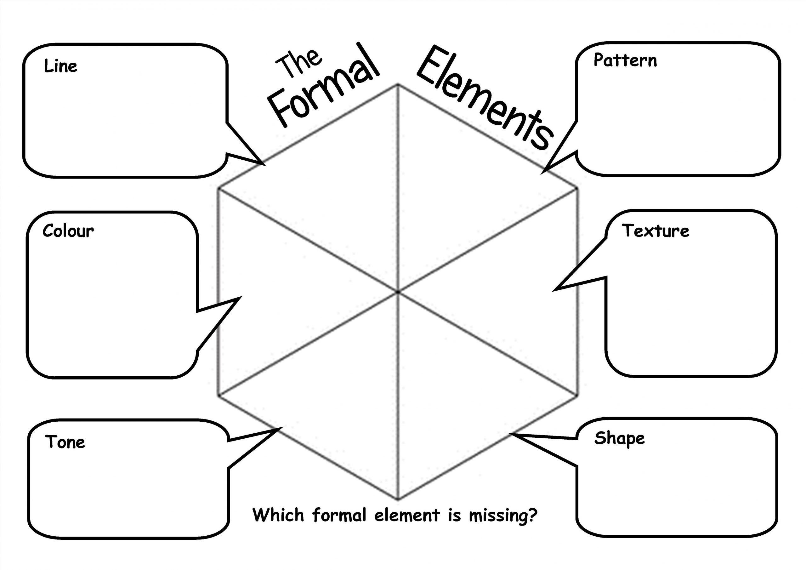 Art Worksheets Middle School formal Elements Worksheet Allowing Pupils to Produce A
