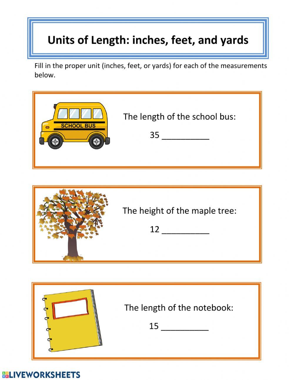 Automotive Math Worksheets Basic Units Of Measurement Interactive Worksheet