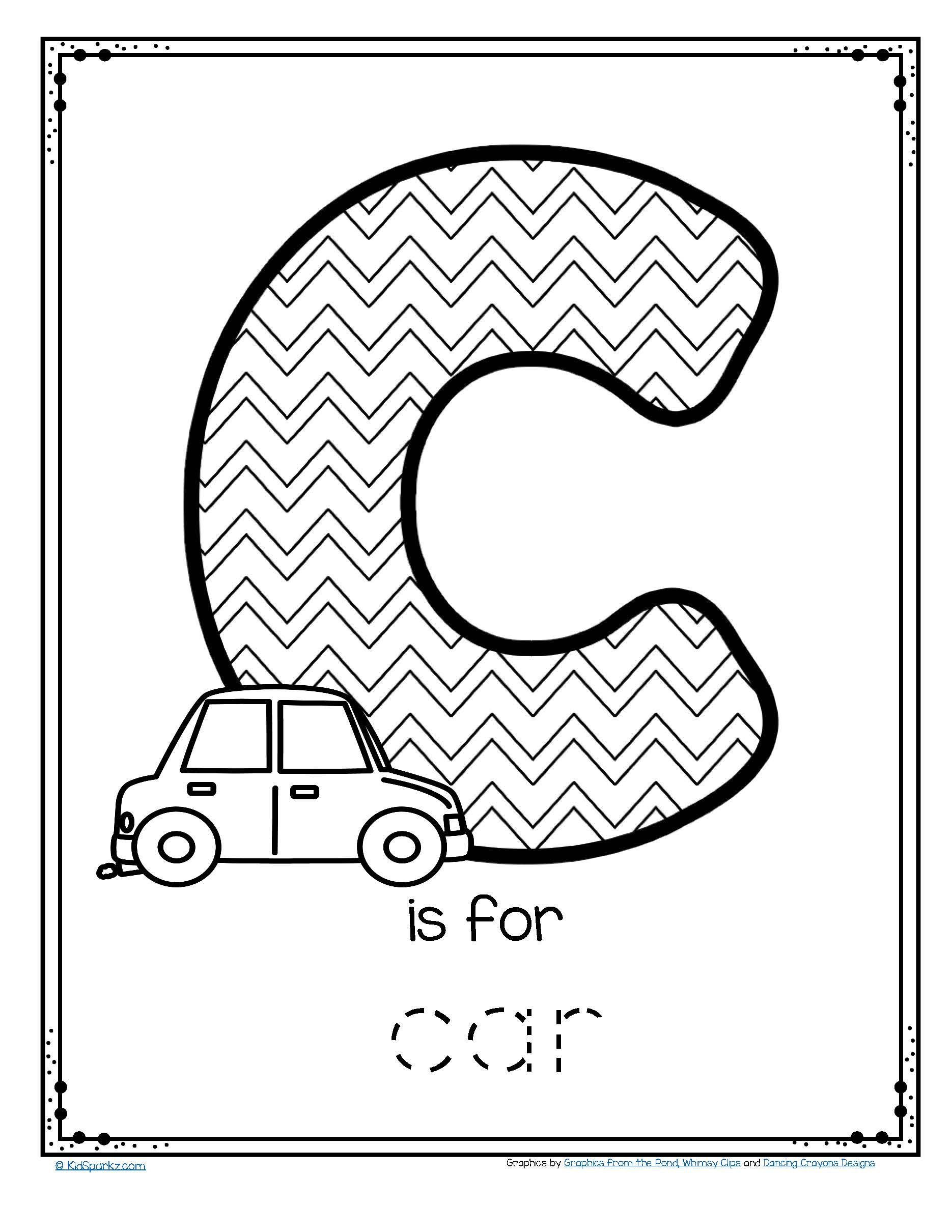 Automotive Math Worksheets Free is for Car Trace and Color Printable Tracing the Letter