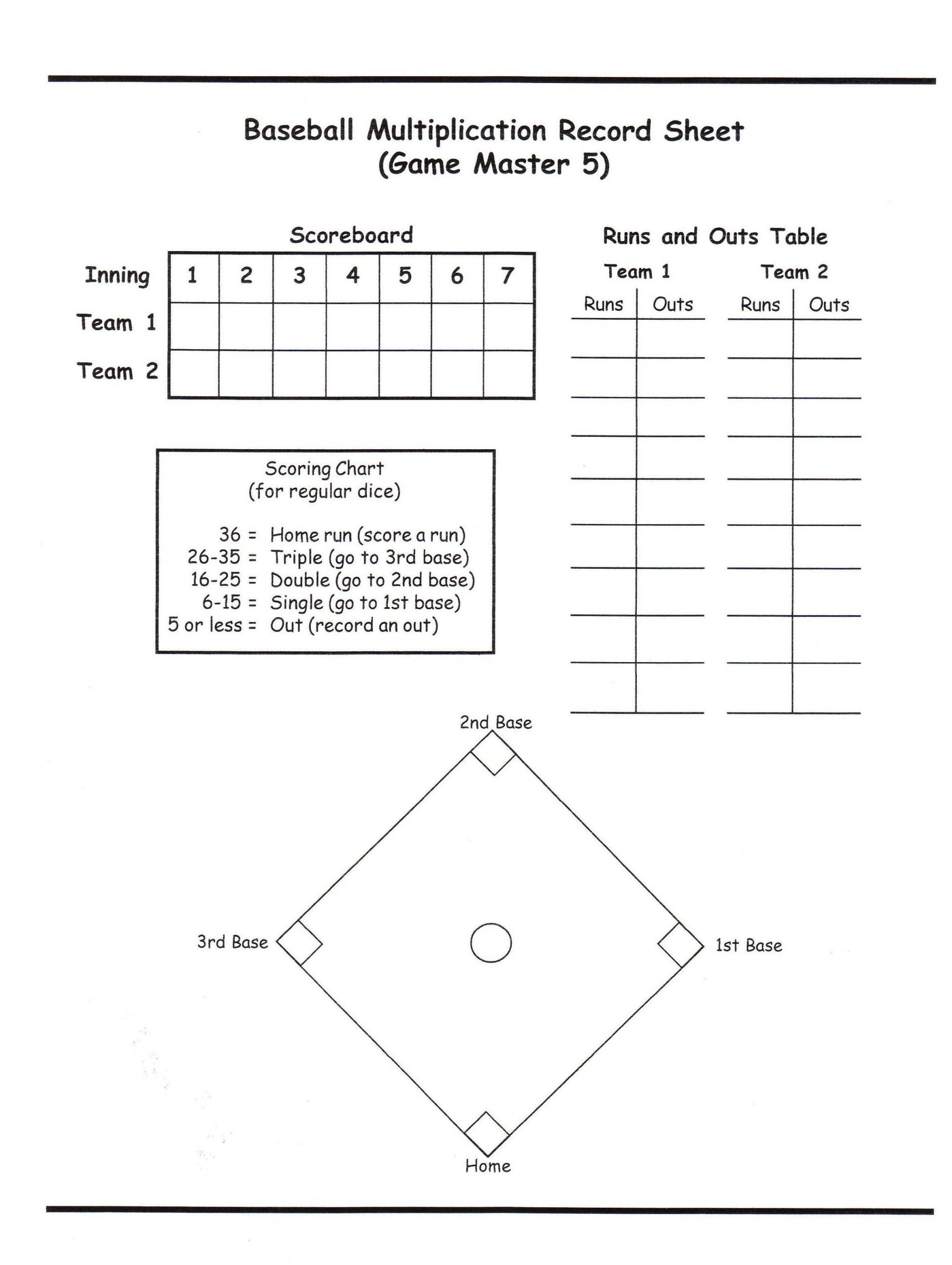 Baseball Math Worksheets Baseball Multiplication Llps Middle Unit Blog