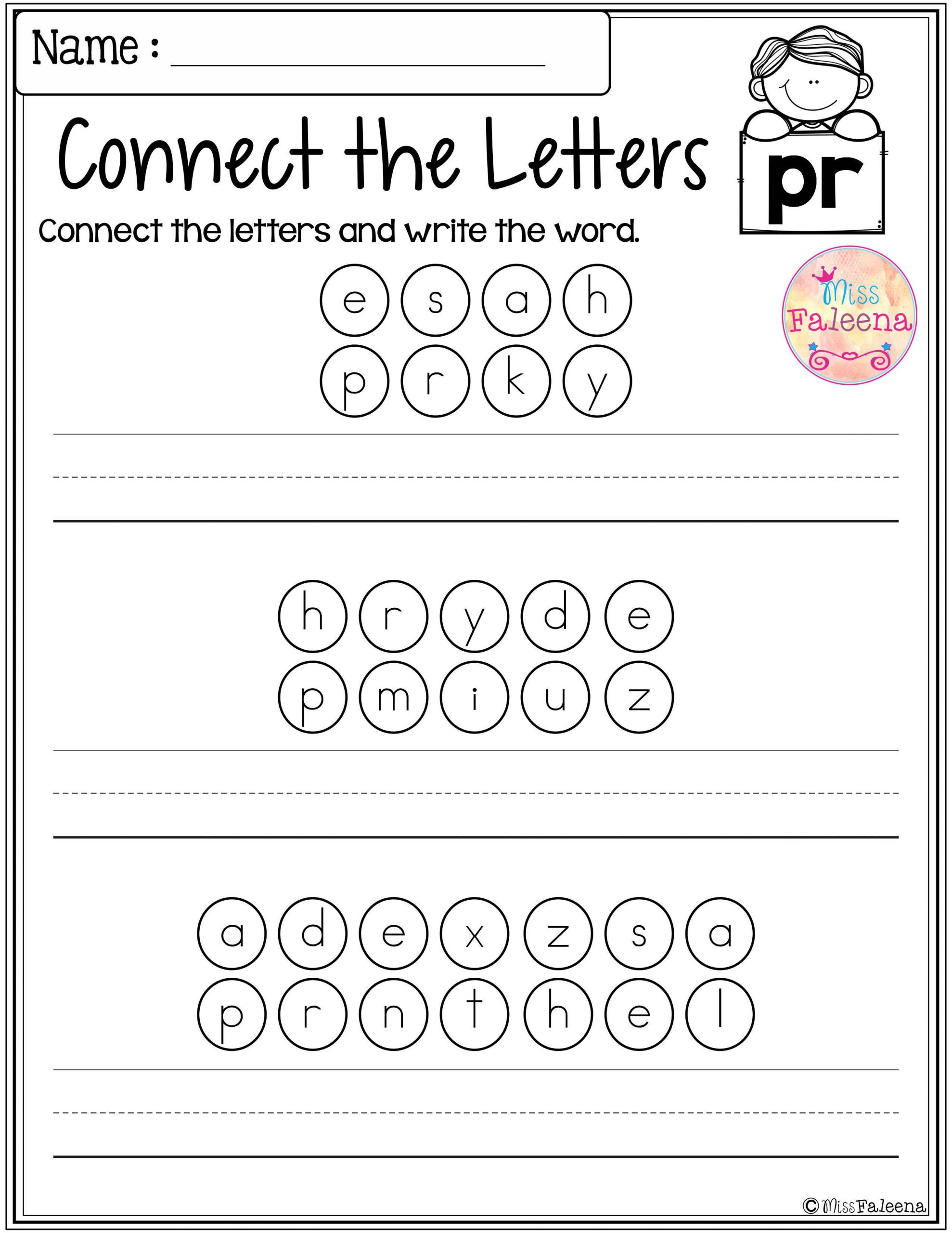 Blends Worksheets for 1st Grade Free Beginning Blends Activities