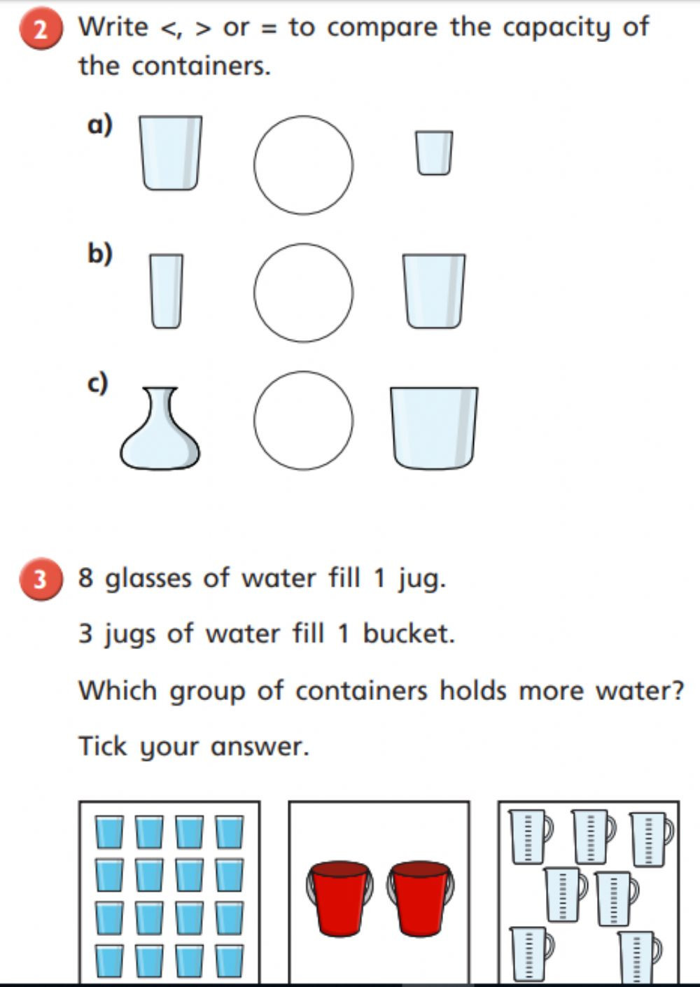 Capacity Maths Worksheets Capacity Interactive Worksheet
