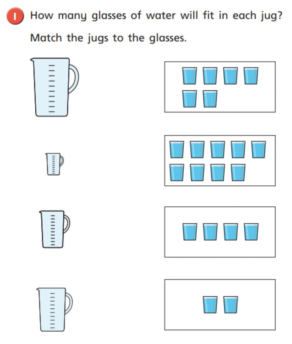 Capacity Maths Worksheets Maths Capacity Interactive Worksheet