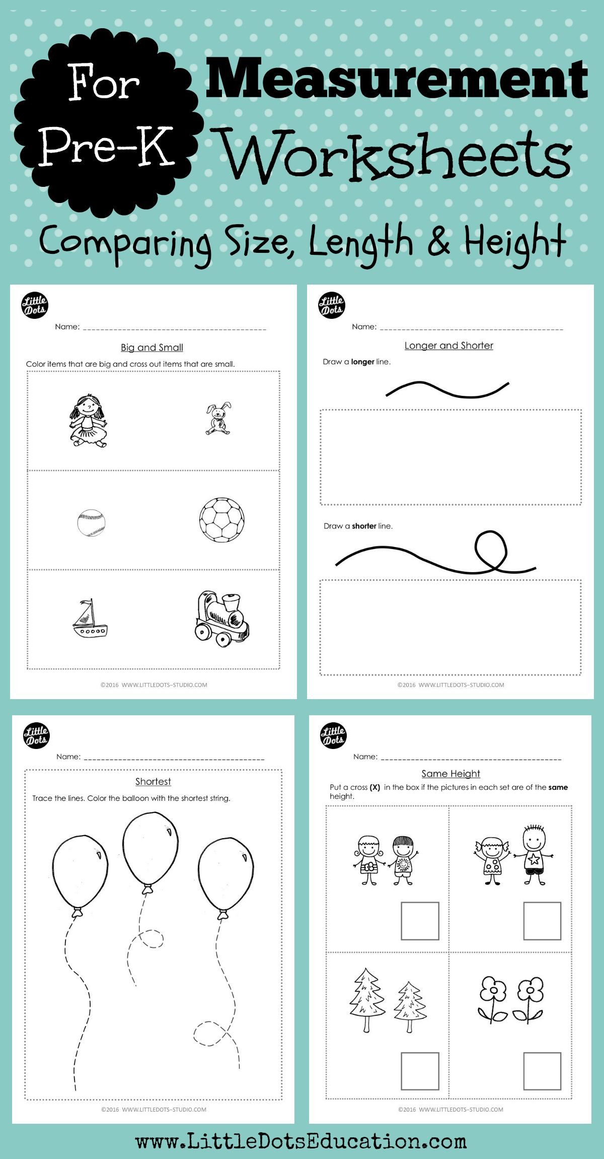 Capacity Maths Worksheets Pre K Measurements Worksheets and Activities