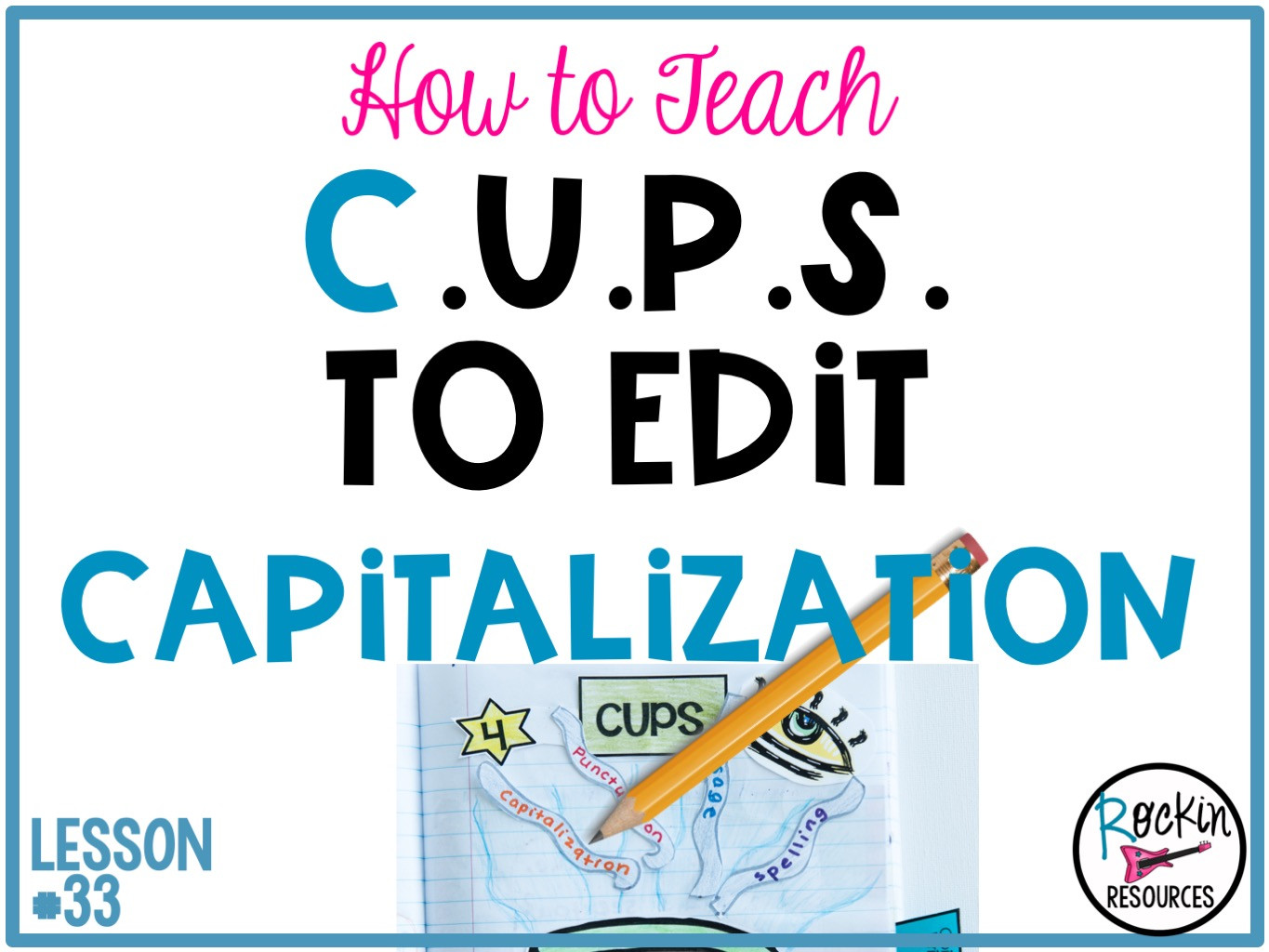 Capitalization Worksheet Middle School Writing Mini Lesson 33 On Capitalization