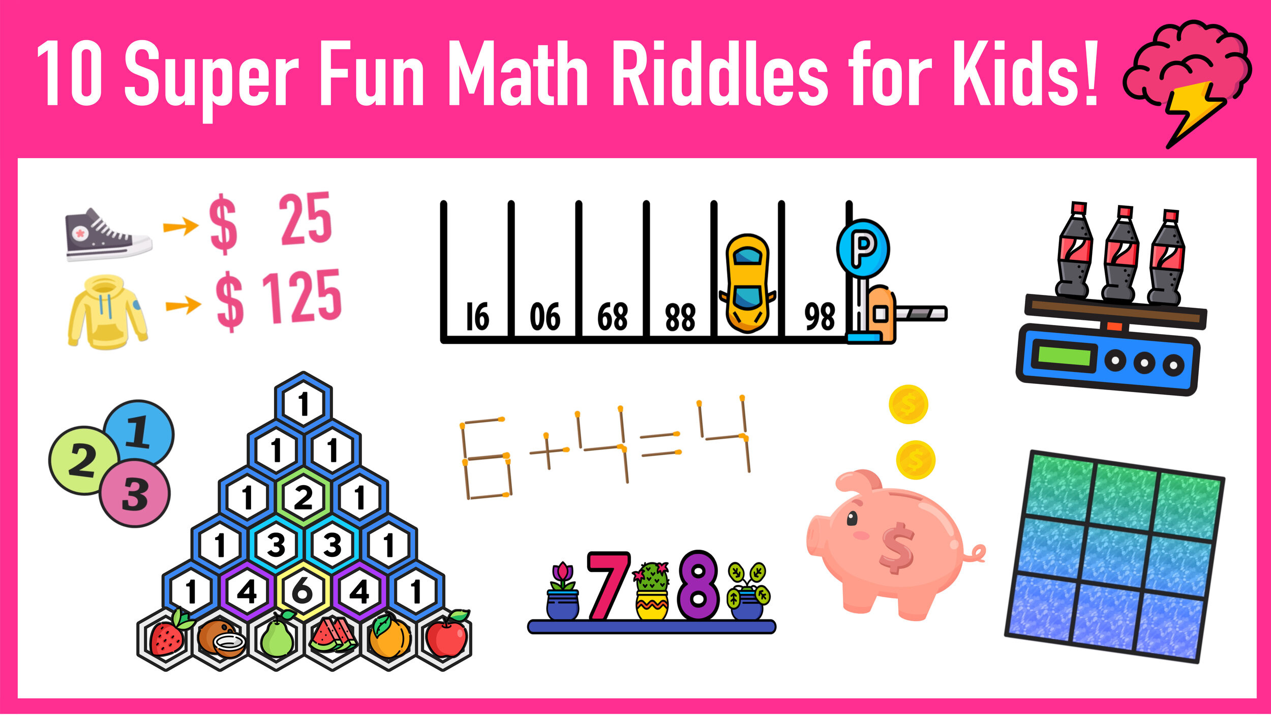 Challenge Math Worksheets 10 Super Fun Math Riddles for Kids Ages 10 with Answers
