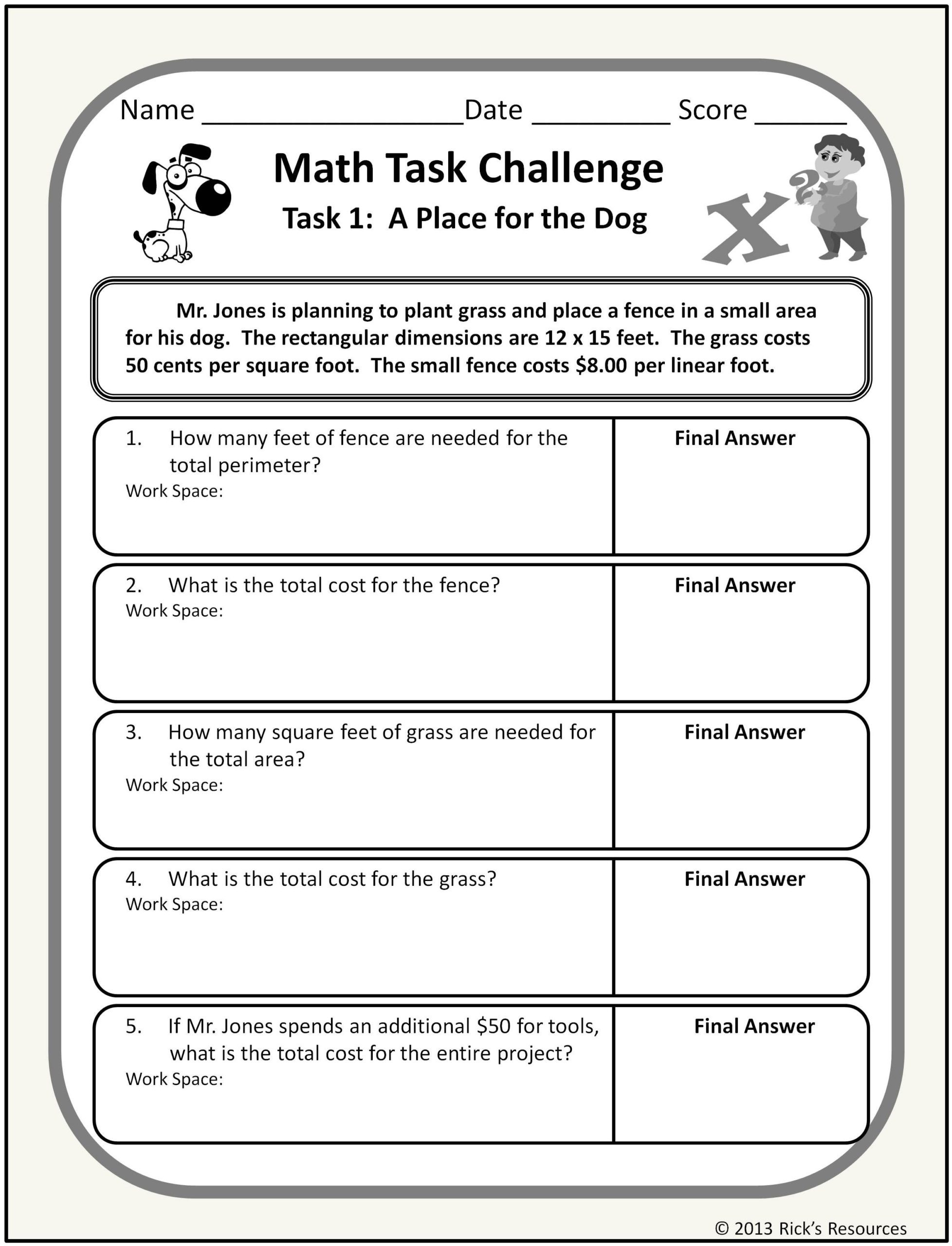 Challenge Math Worksheets First Grade Multiplication Worksheets Free 7th Grade