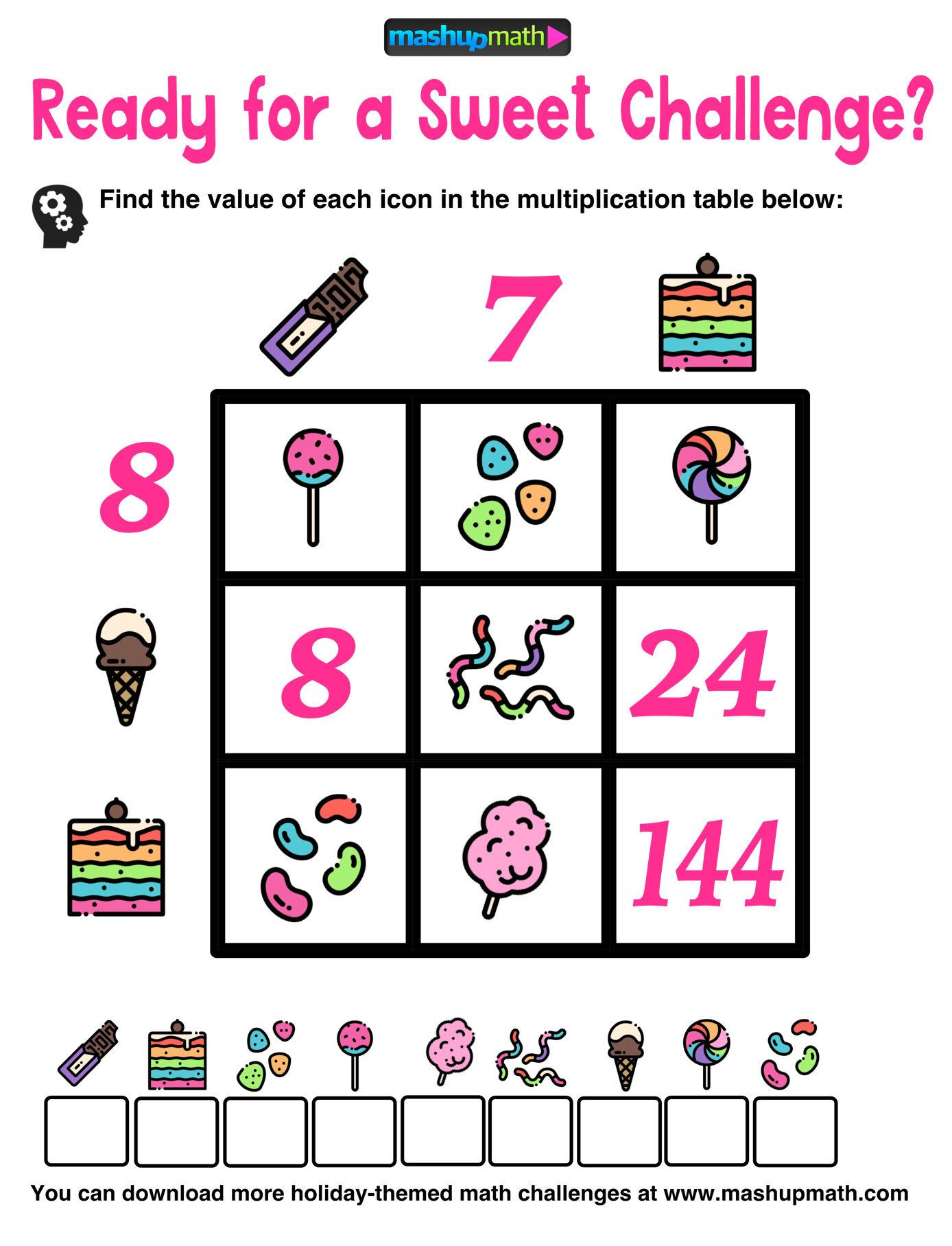 Challenge Math Worksheets Multiplication Table Worksheets Free Printable Math Puzzles