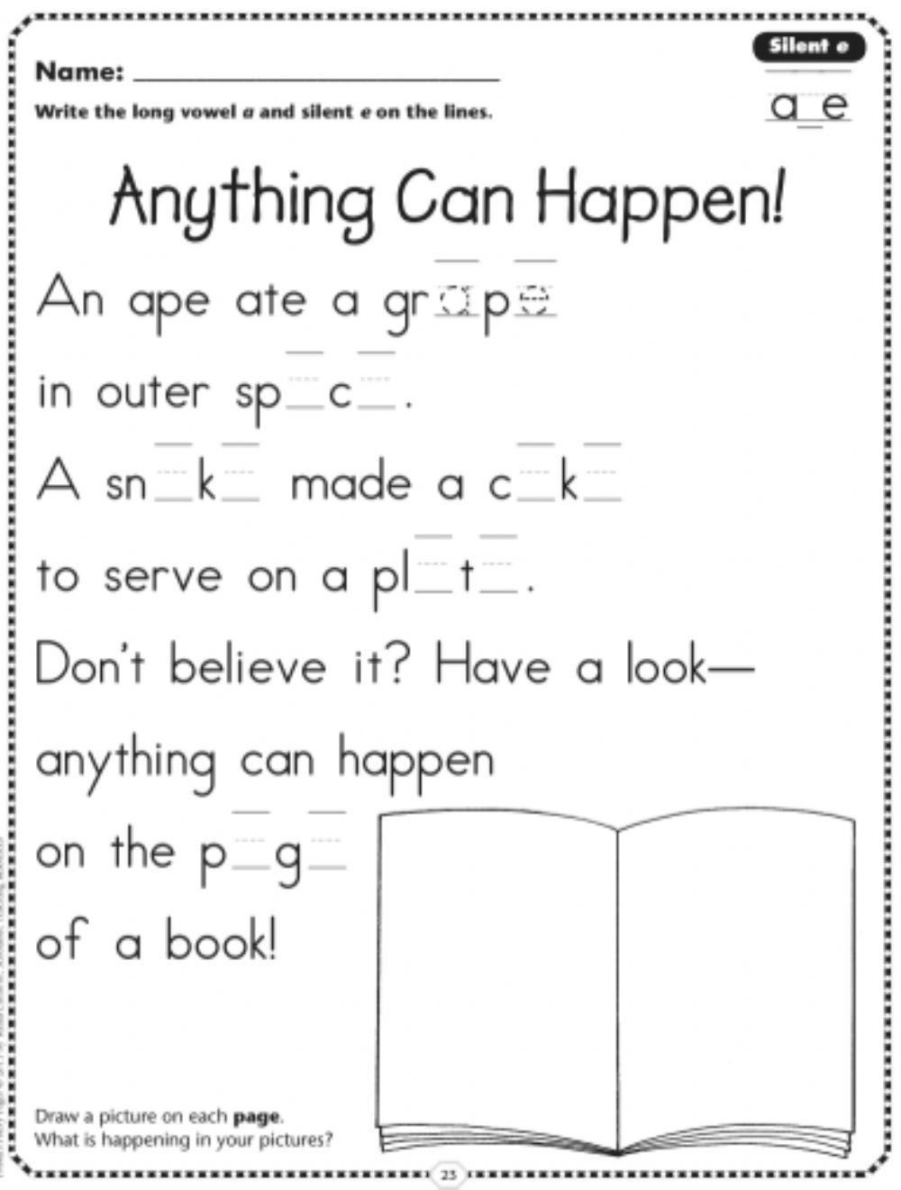 Ck Worksheets for 2nd Grade Phonics Interactive Worksheet