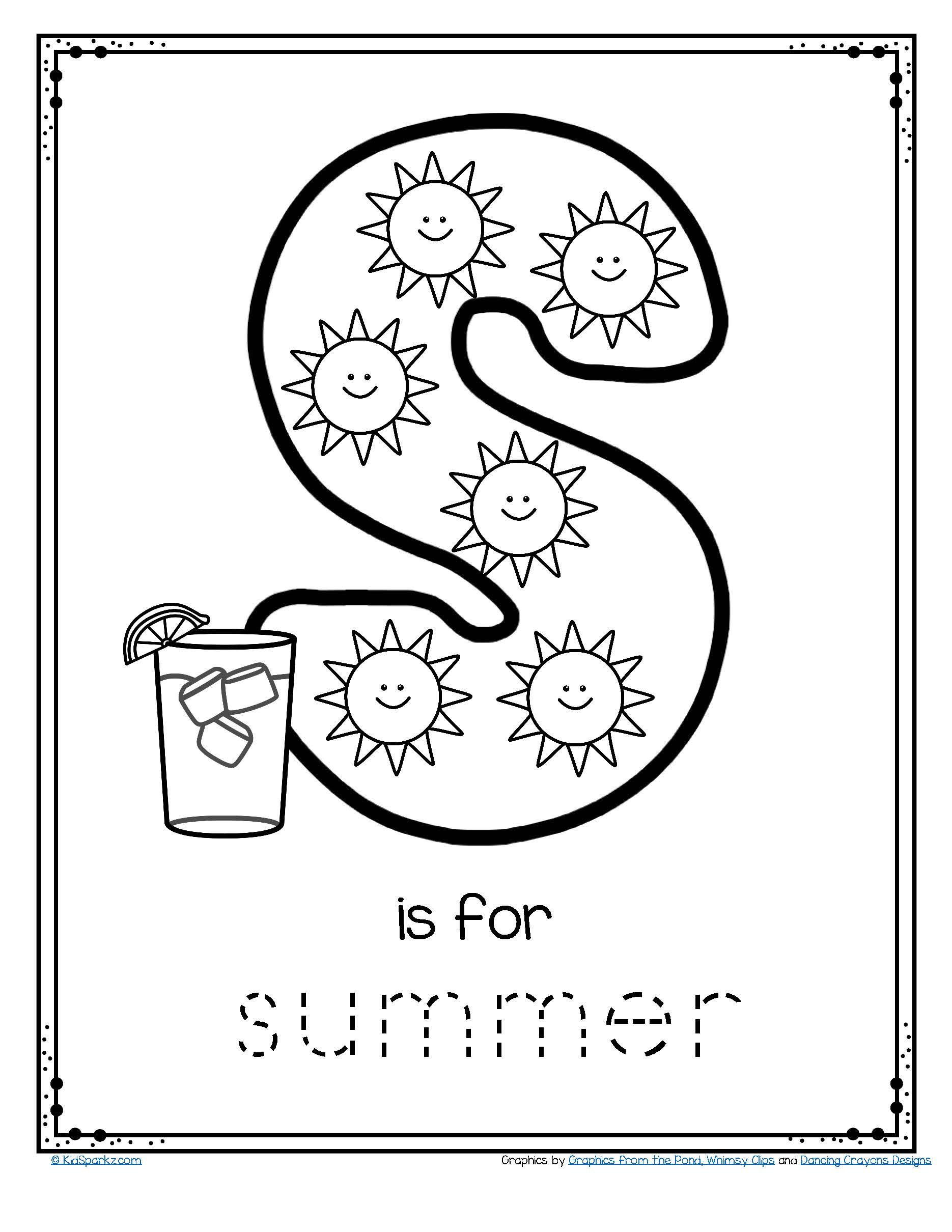 Color Blue Worksheets for Preschool Free Tracing and Coloring Printable Sunny Days Blue Skies