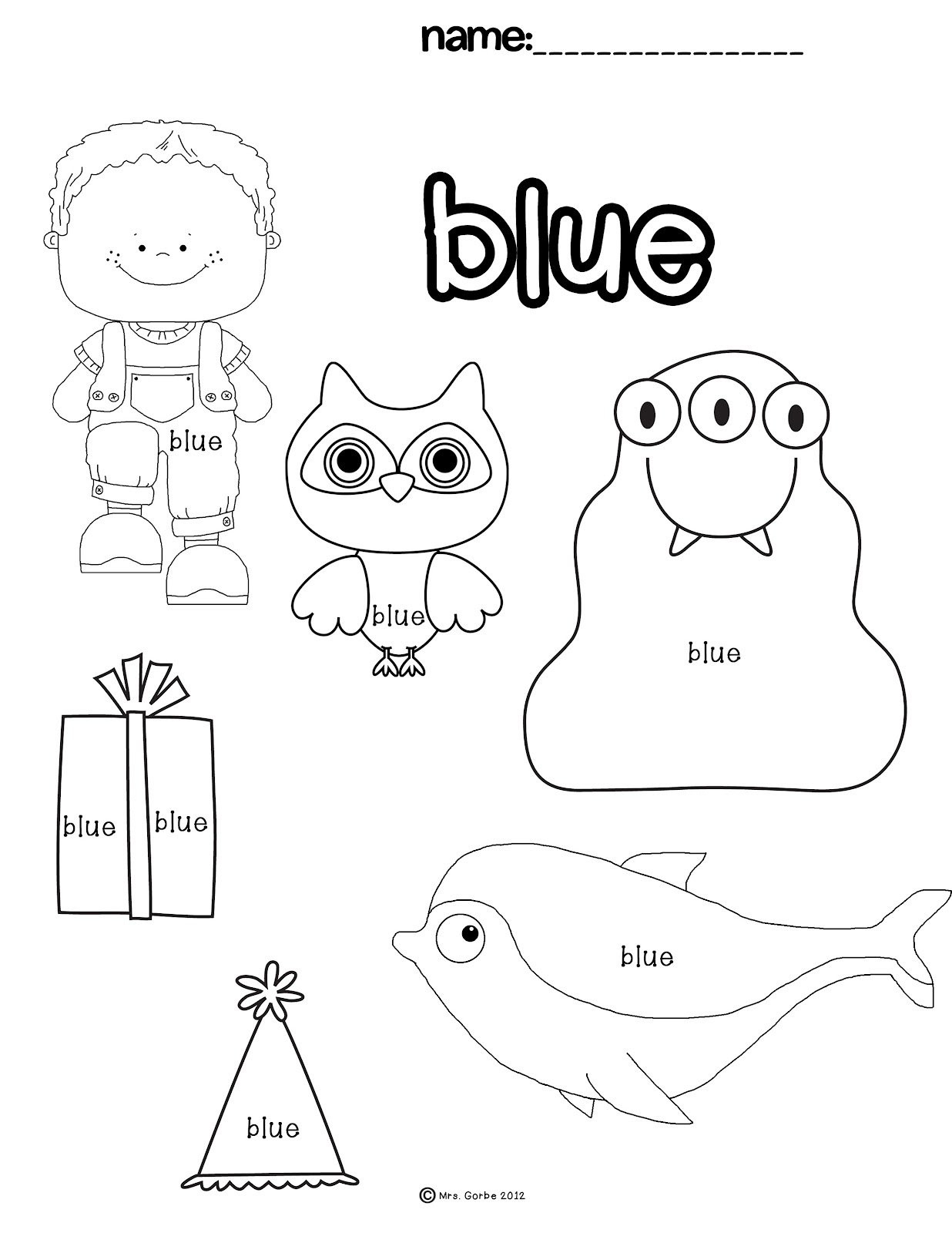 Color Blue Worksheets for Preschool Preschool Liquid Worksheet