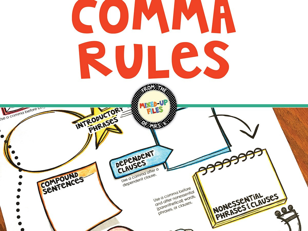 Comma Worksheet Middle School Pdf Ma Rules Infographic Project