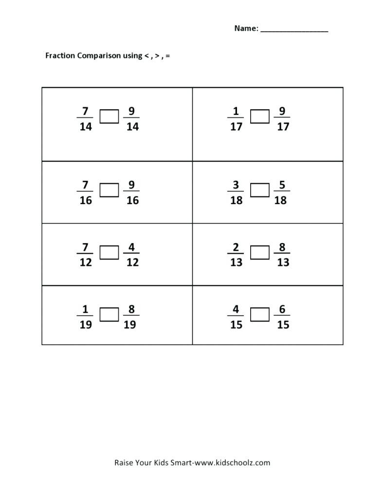 Comparing Fractions Worksheet 4th Grade 11 Best Paring Fractions Worksheets Images On Worksheets