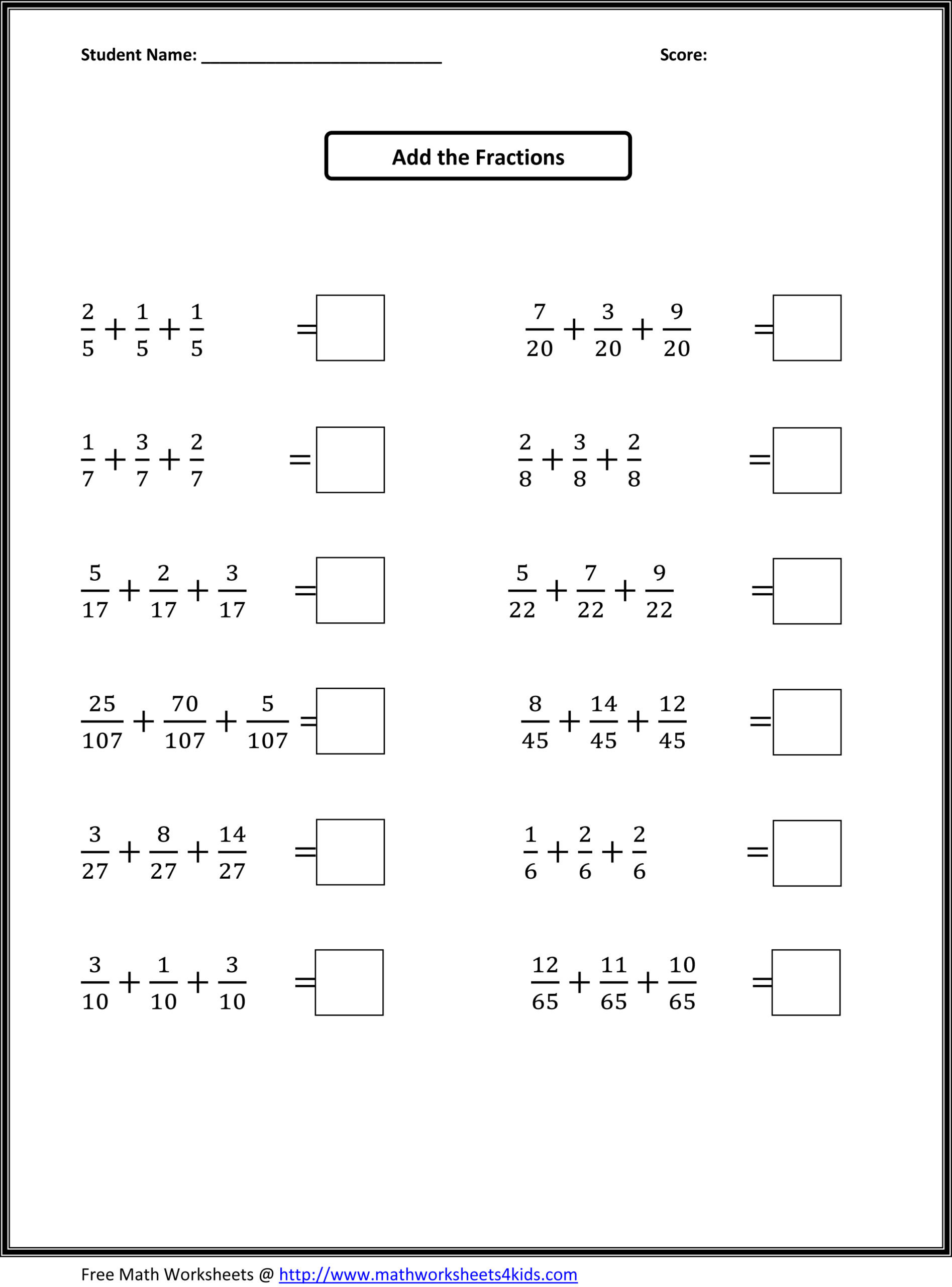 Comparing Fractions Worksheet 4th Grade Math Worksheet 47 Fabulous 4th Grade Fractions Worksheets
