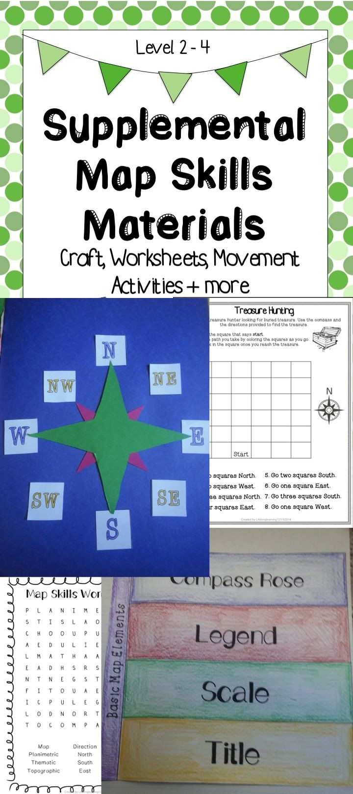 Compass Rose Worksheets Middle School Supplemental Map Skills Materials Craft Worksheets