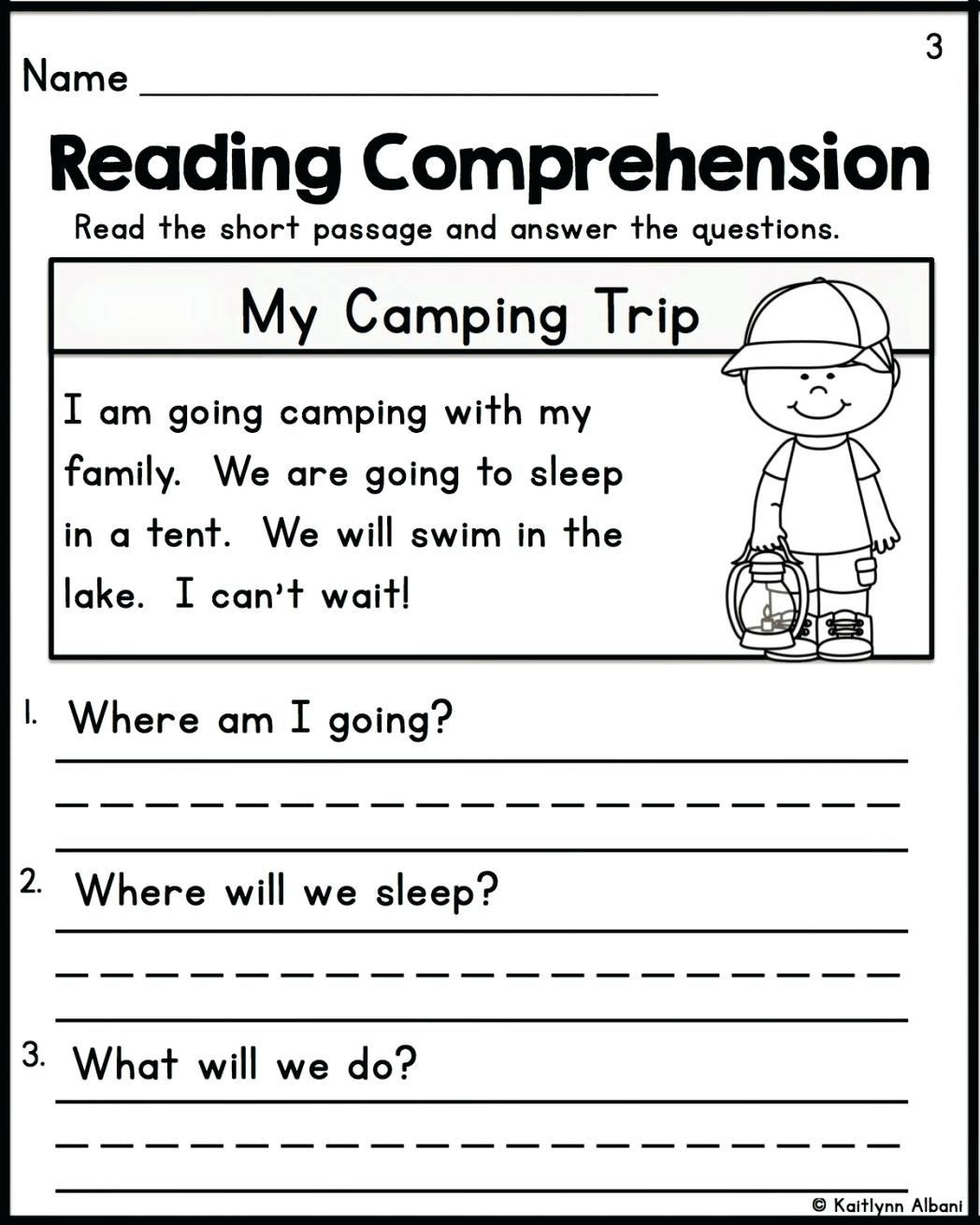 Comprehension Worksheet First Grade Prehension Worksheets for Grade 2
