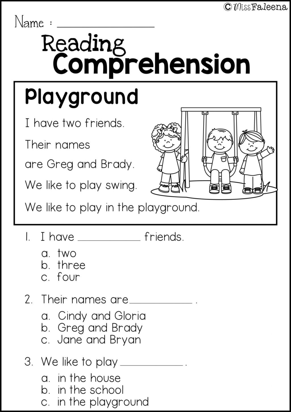 Comprehension Worksheet First Grade Worksheet Worksheet Ideas Freeading Prehension Practice