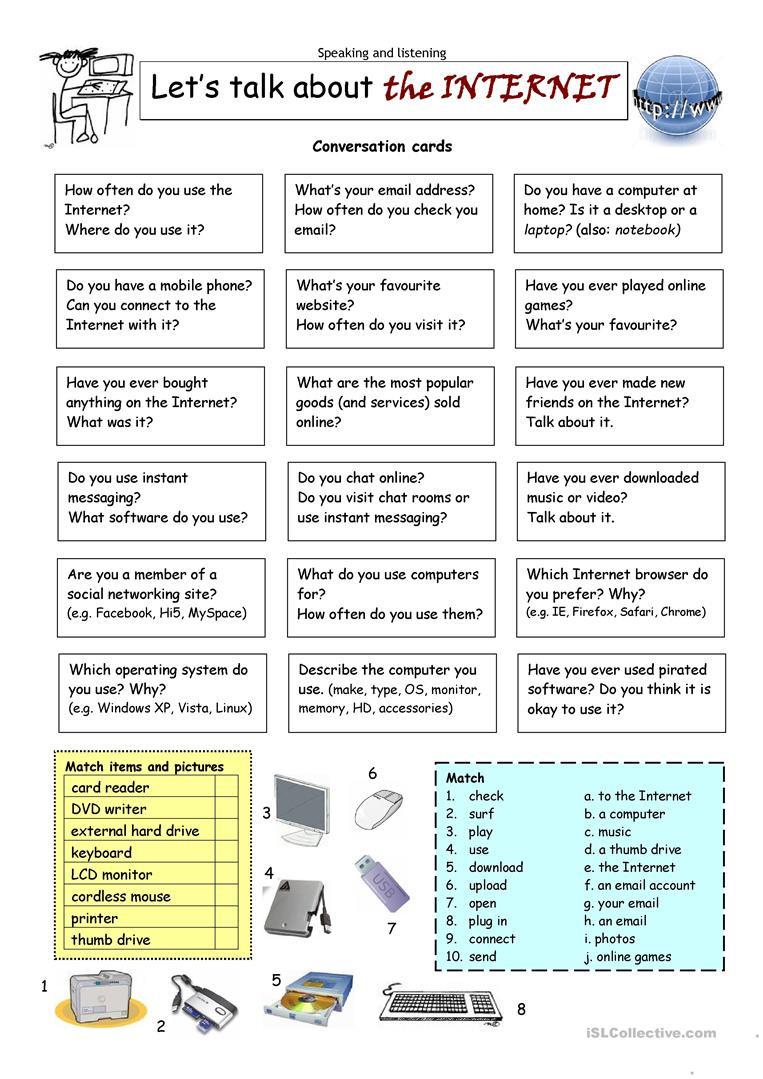 Computer Worksheets for Middle School English Esl Puter Worksheets Most Ed 106 Results