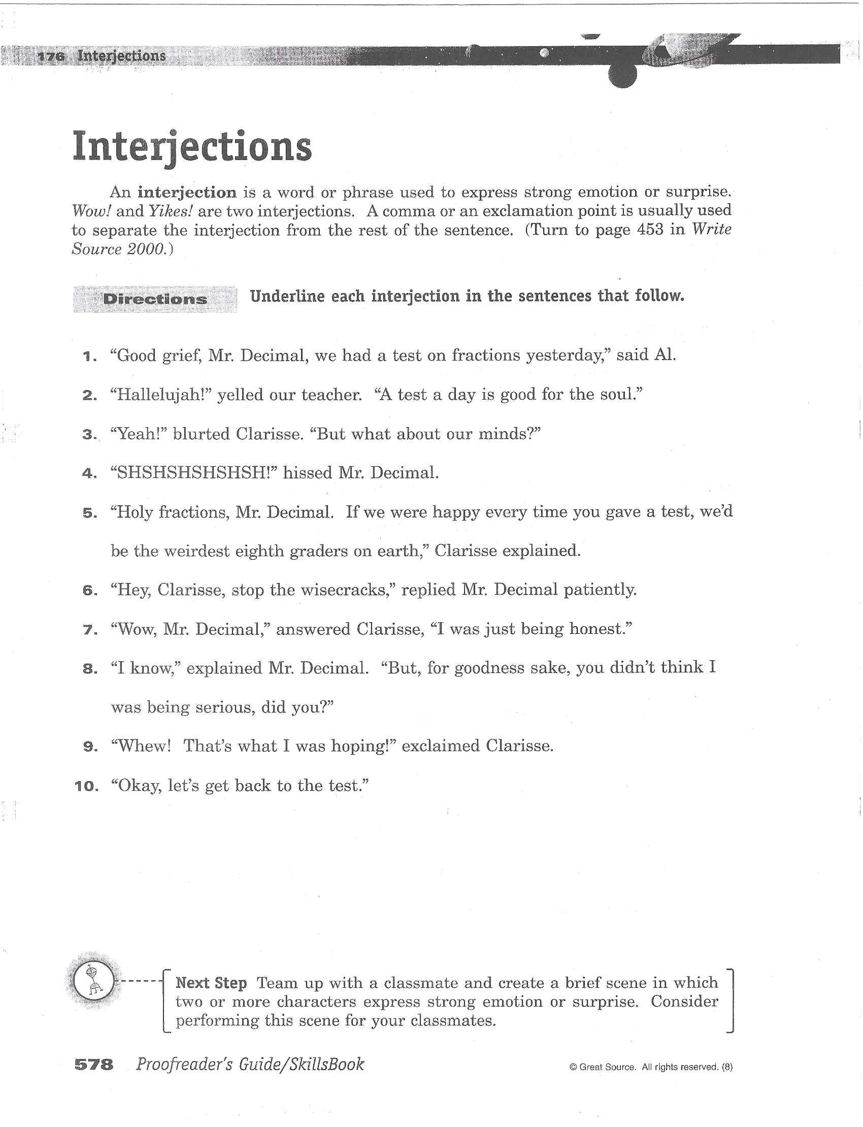 Conjunction Worksheet 5th Grade 5th Grade Interjection Worksheet Printable