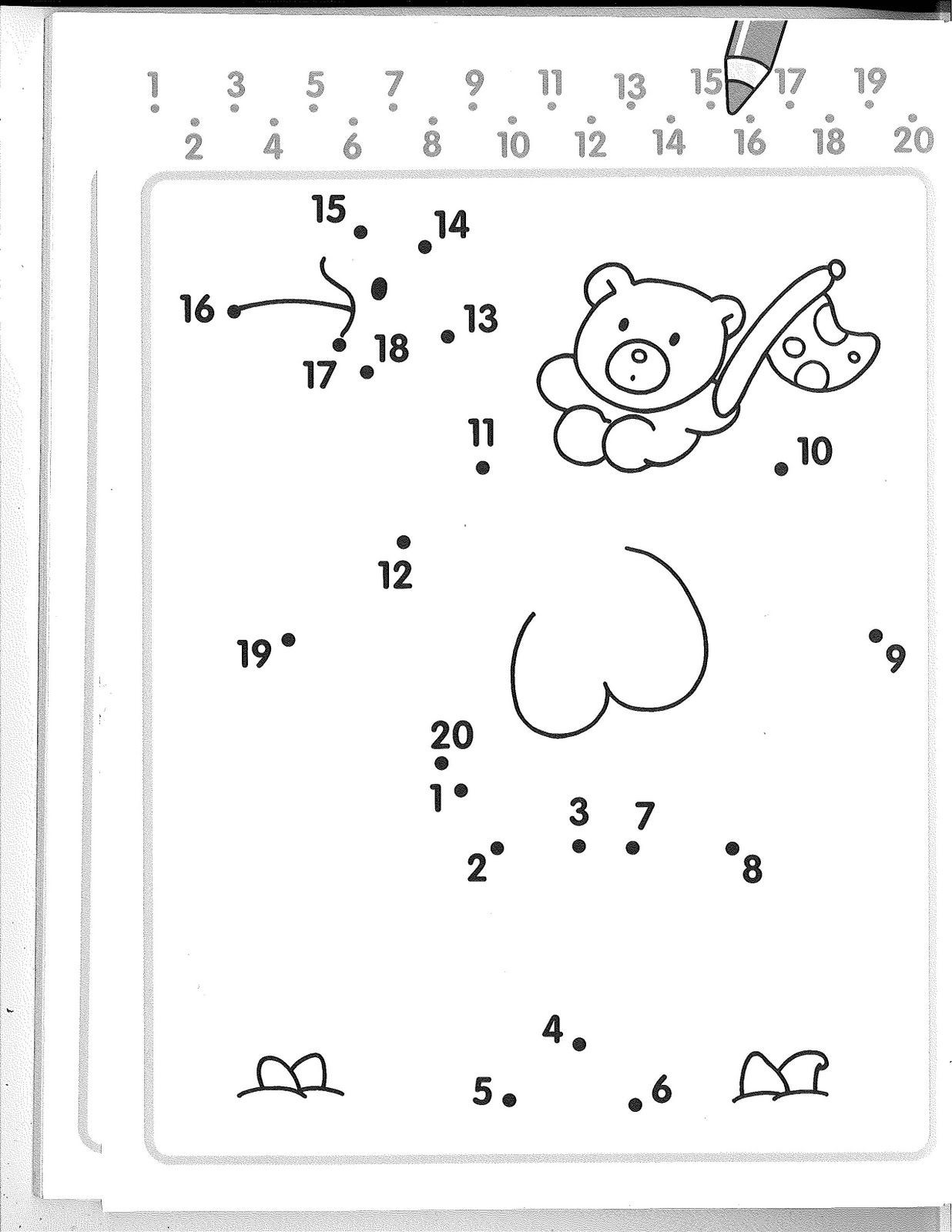 Connect the Dots Math Worksheets Numbers Dot to Kindergarten Worksheets Dots Connect the Free