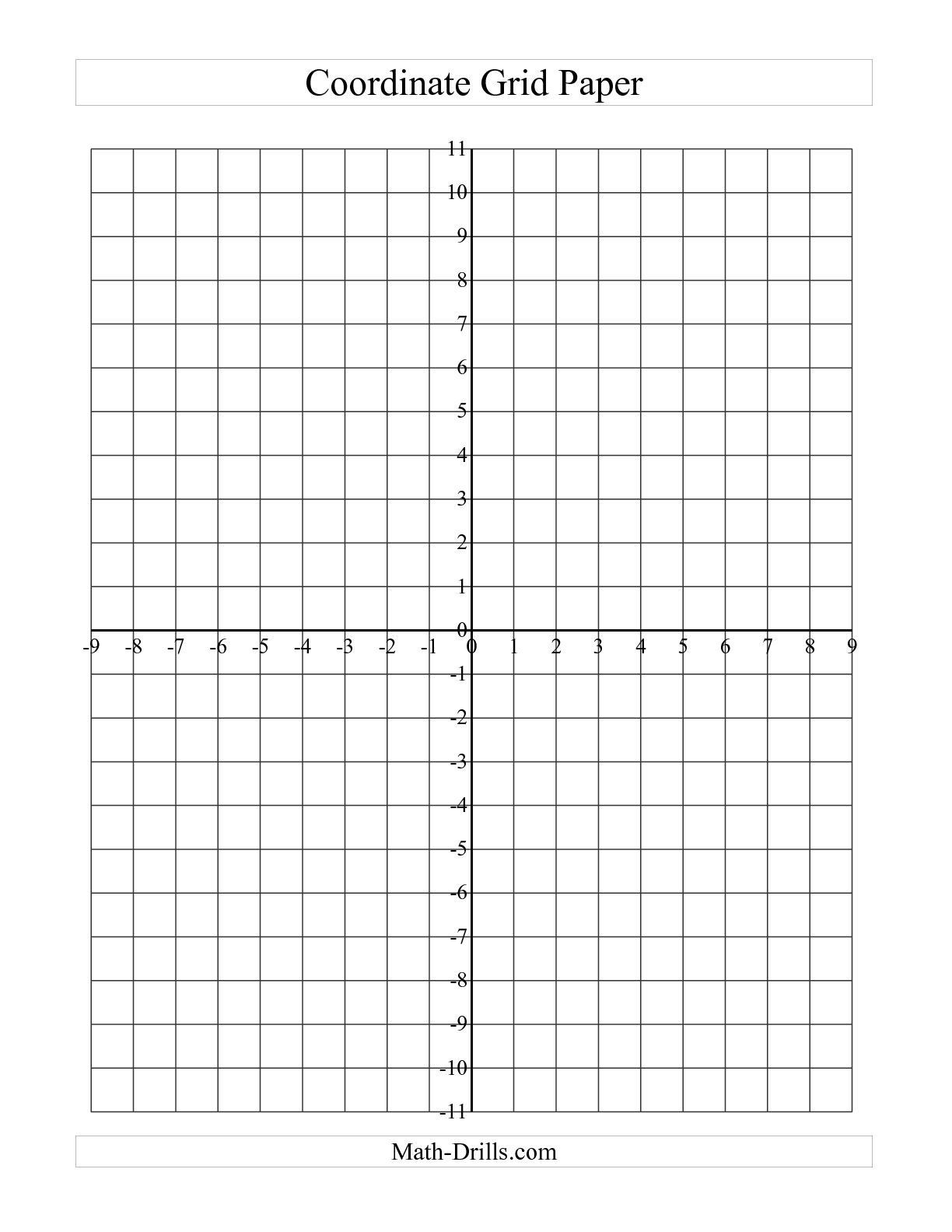 Coordinate Grid Worksheets 6th Grade the Coordinate Grid Paper Grid A Math Worksheet