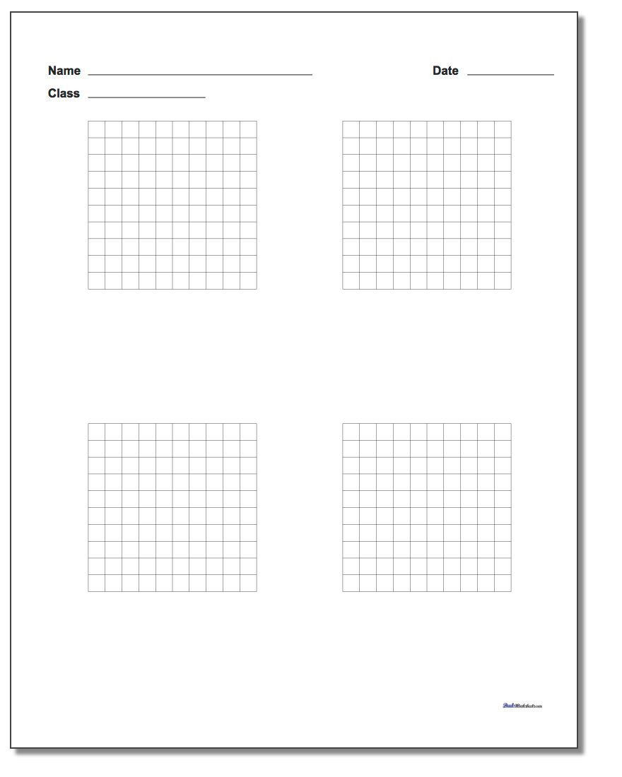 Coordinate Grids Worksheets 5th Grade Printable Graph Paper with Name Block