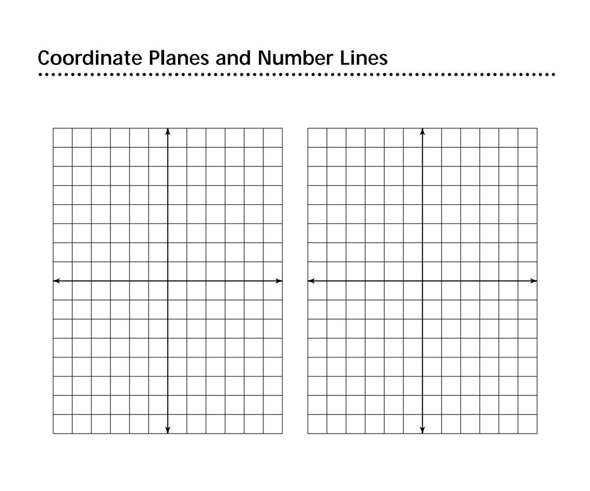 Coordinate Plane Worksheet 5th Grade Coordinate Planes and Number Lines Printable 4th 9th