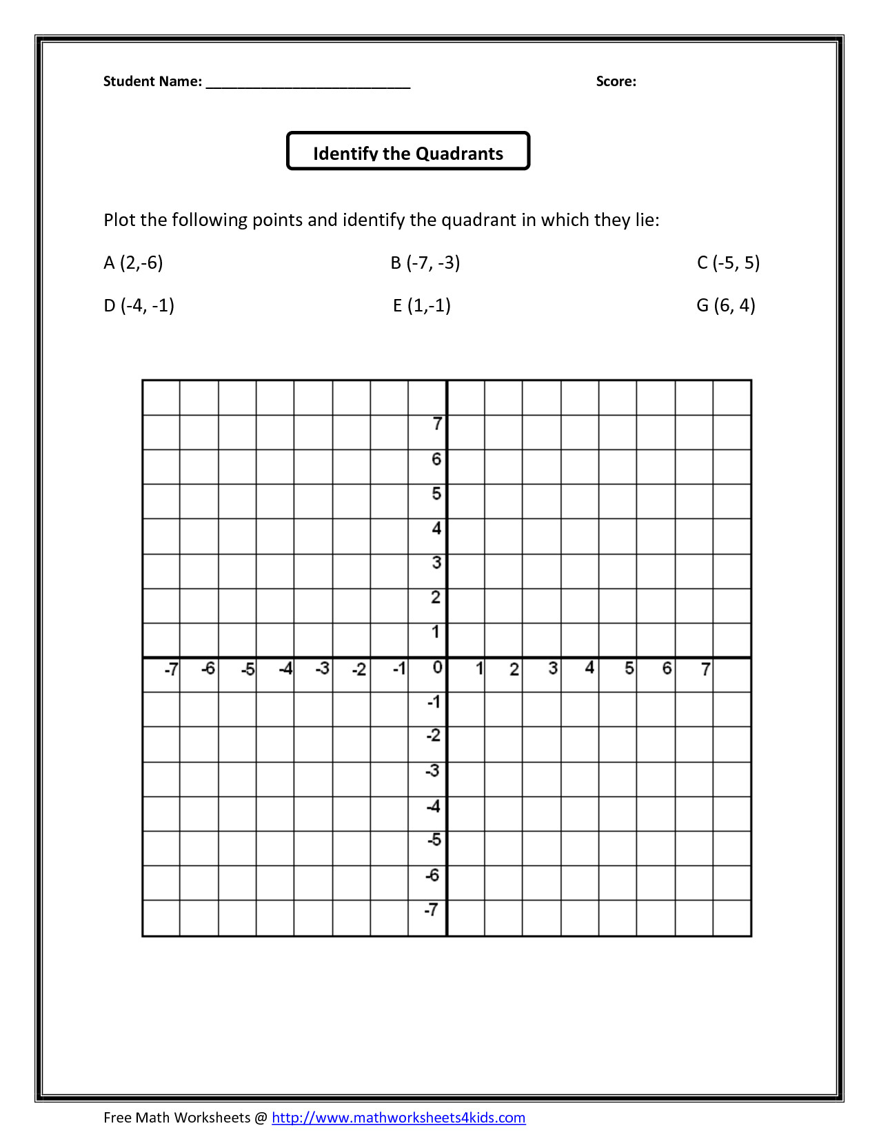 Coordinate Plane Worksheets 5th Grade Snowflake Coordinate Plane Worksheets