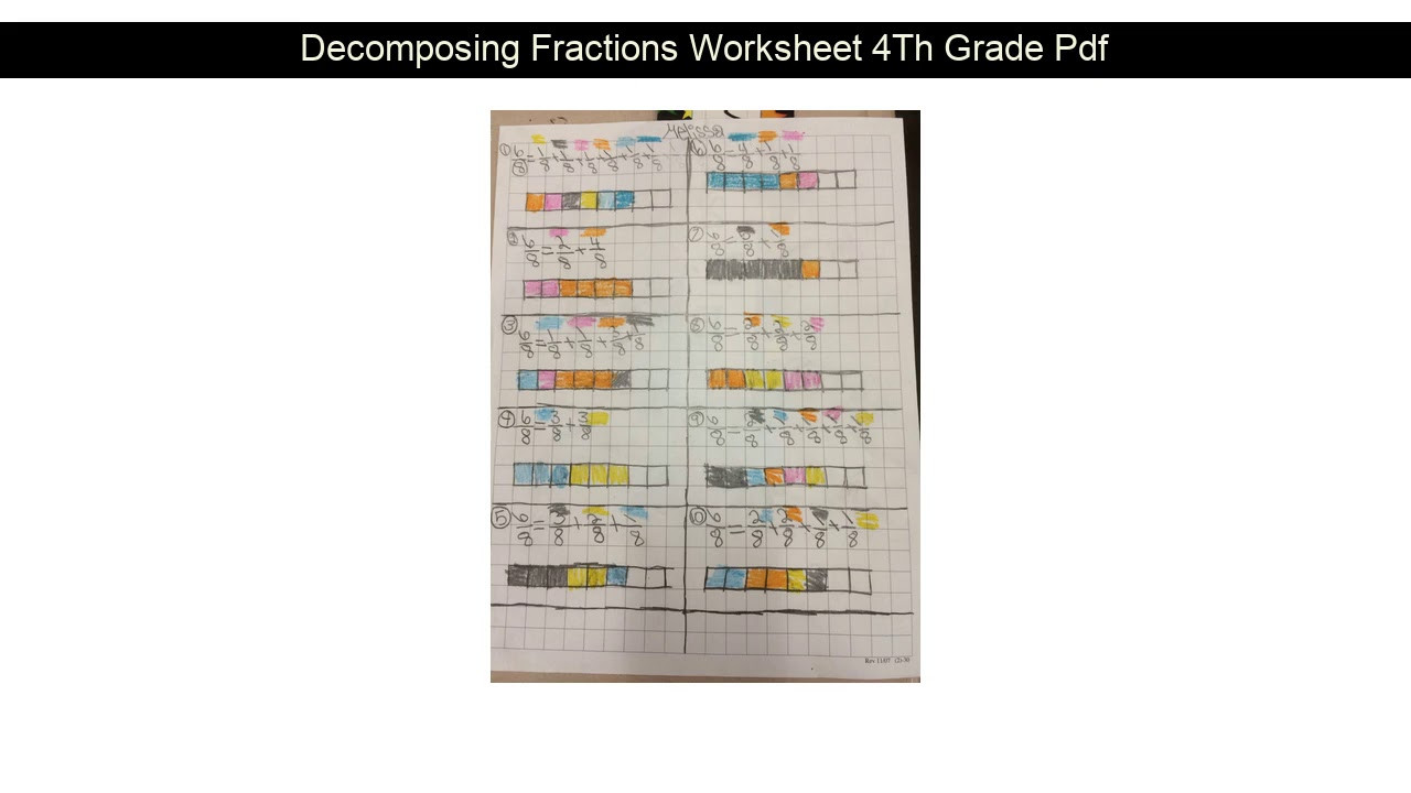 Decomposing Fractions Worksheets 4th Grade De Posing Fractions Worksheet 4th Grade Pdf