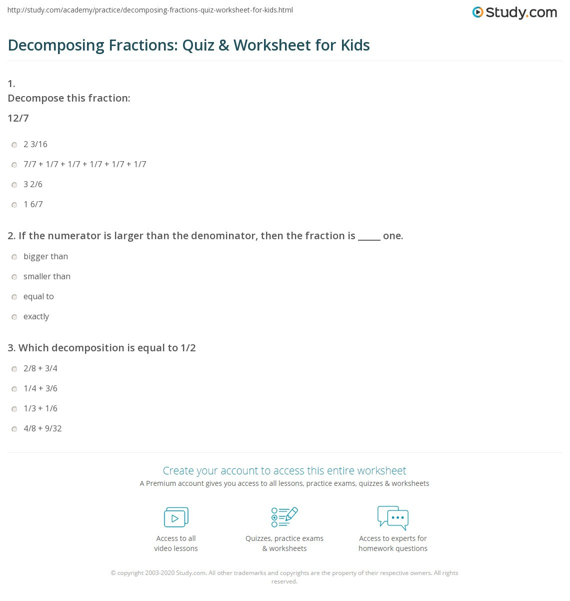 Decomposing Fractions Worksheets 4th Grade De Posing Fractions Worksheet