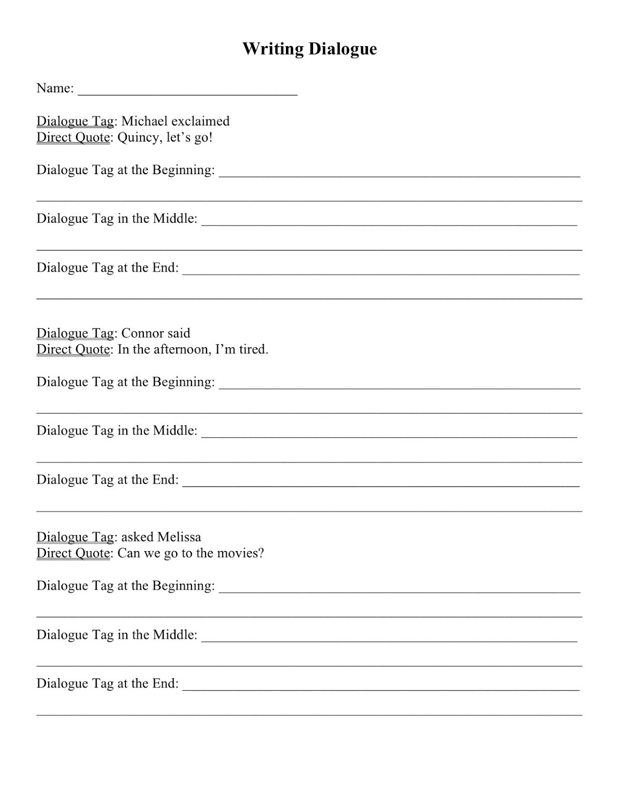 Dialogue Worksheets for Middle School How to Write A Dialogue Writing