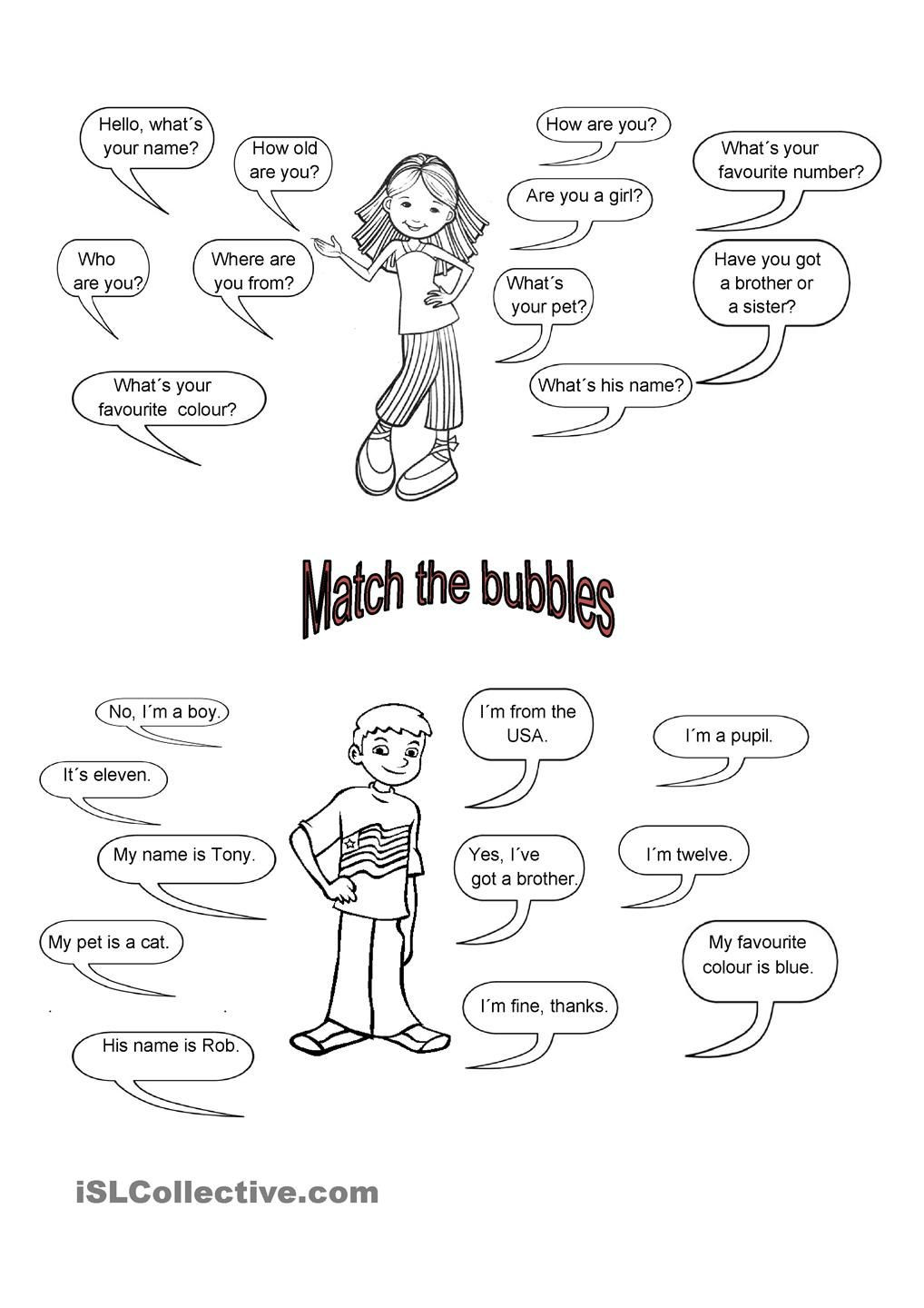 Dialogue Worksheets Middle School Easy Dialogues