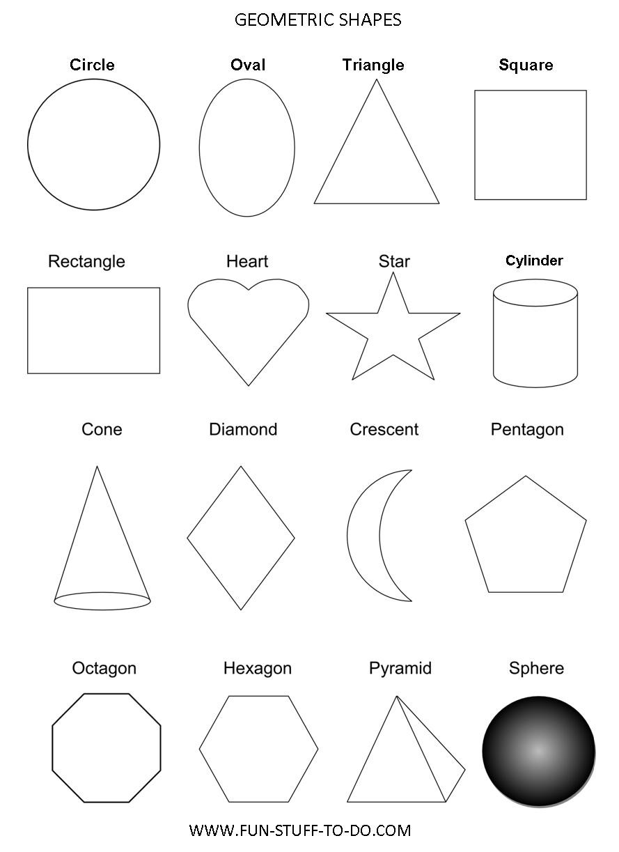 Diamond Worksheets for Preschool Geometric Shapes Worksheets Free to Print Ws Grade Math Exam