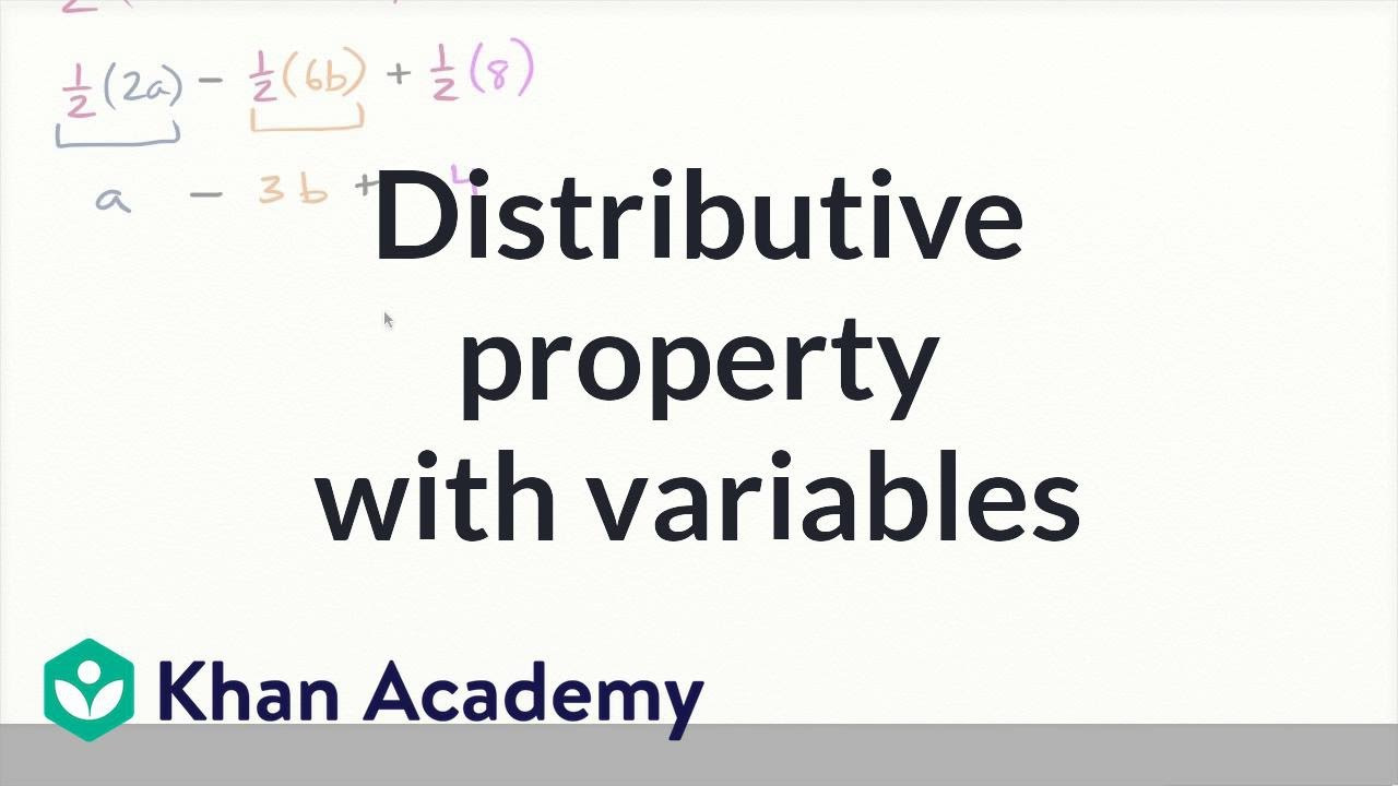 Distributive Property Worksheets 9th Grade Distributive Property with Variables Video
