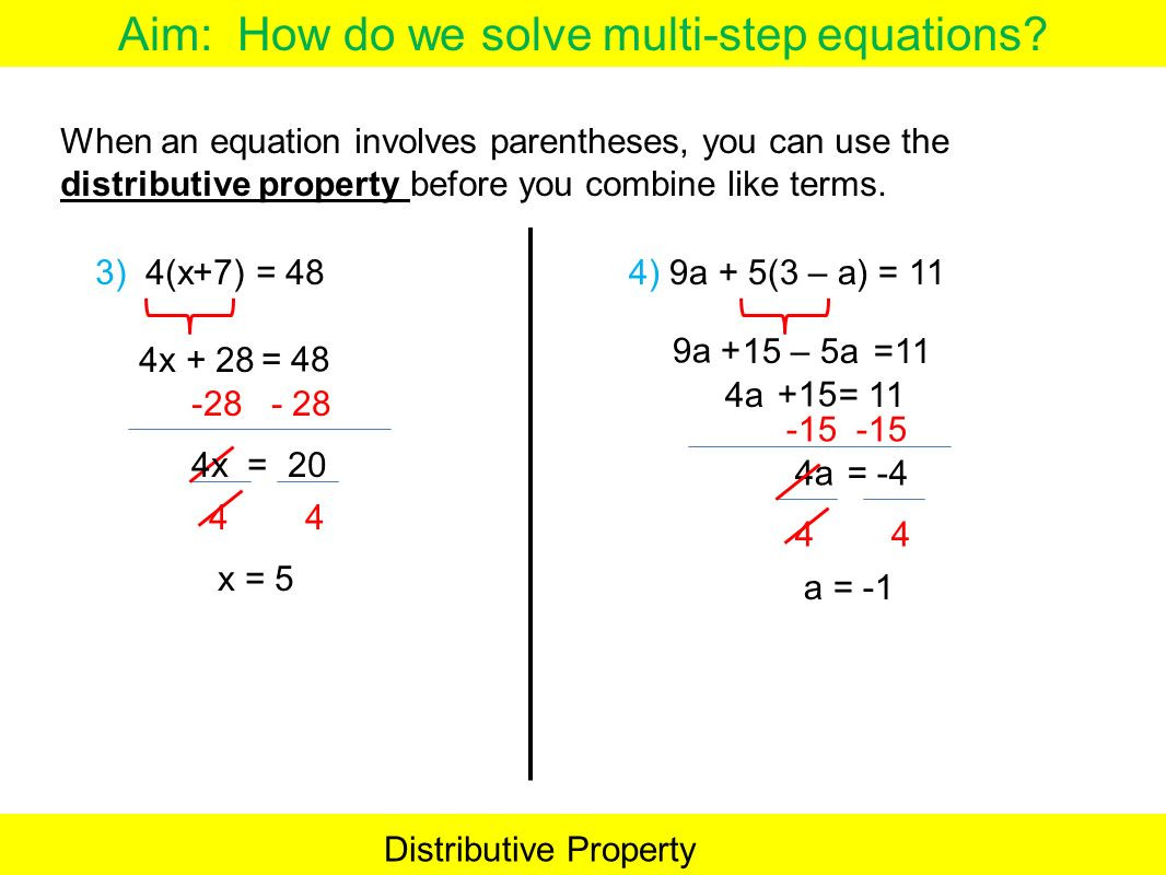 Distributive Property Worksheets 9th Grade Variables Both Sides with Distributive Property Worksheet