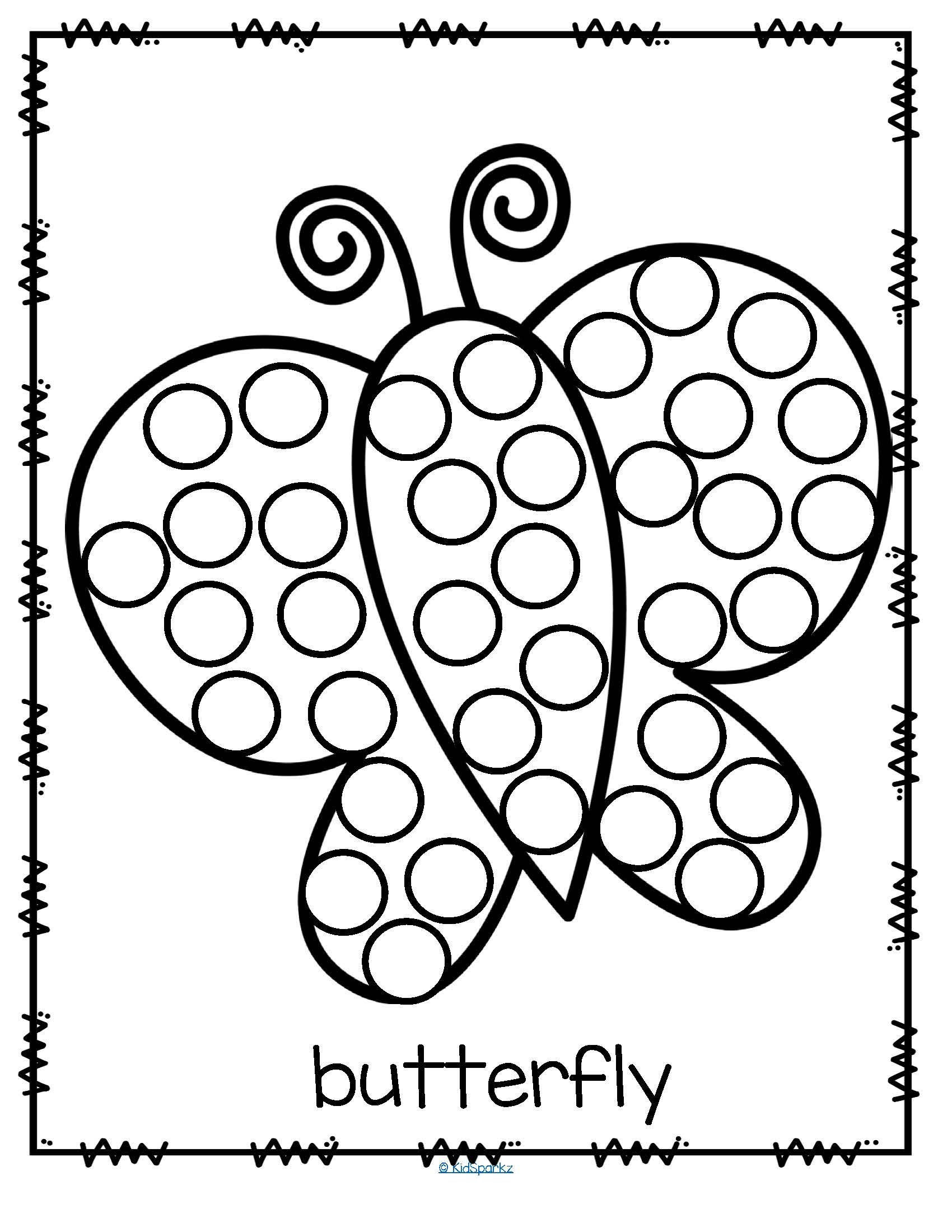 Dot to Dot Art Printables 26 Free Printable Dot Marker Templates butterfly Do A Dot