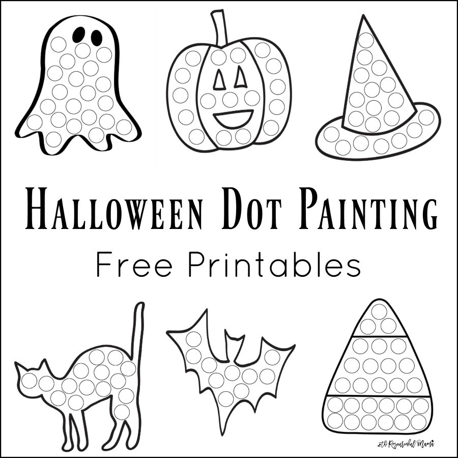 Dot to Dot Art Printables Halloween Dot Painting Free Printables the Resourceful Mama