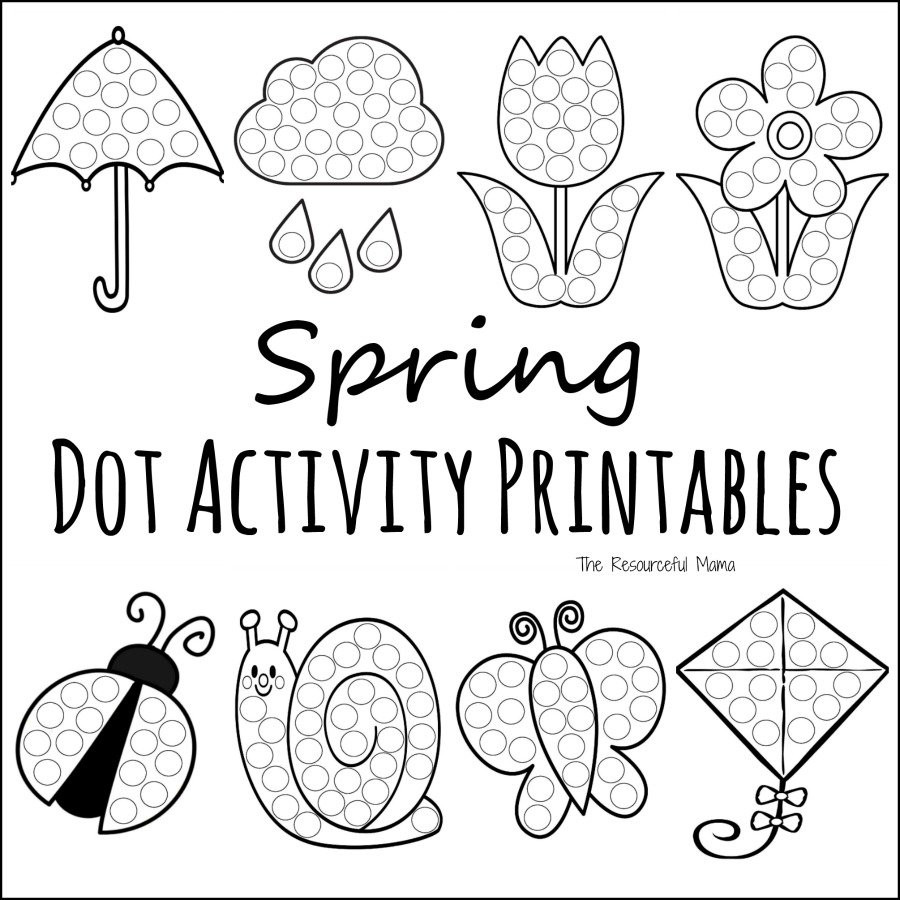 Dot to Dot Art Printables Spring Do A Dot Prinables