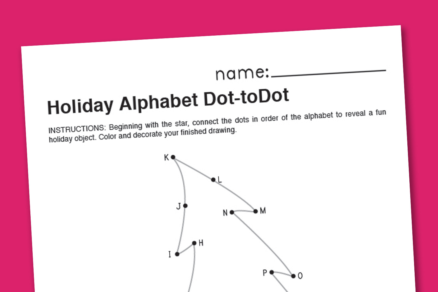 Dot to Dot Christmas Printables Christmas Alphabet Dot to Dot Paging Supermom