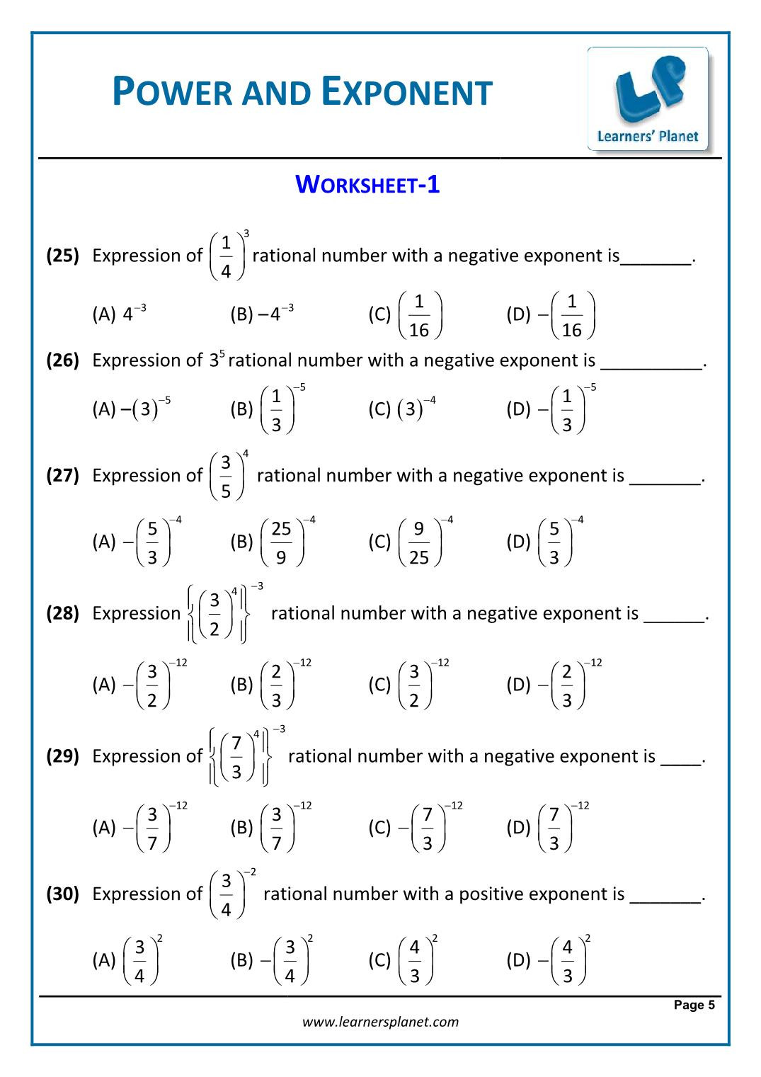 Doubles Math Worksheet 8th Math Cbse Exponents and Powers Worksheets Games for Year