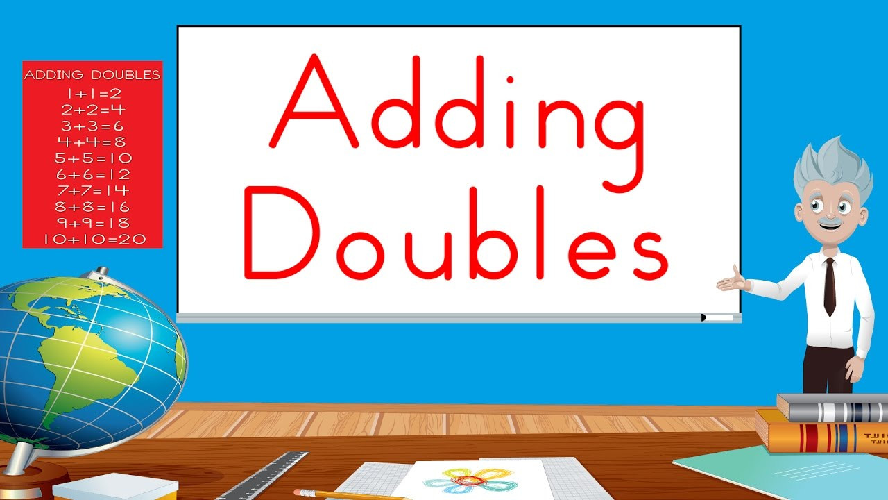 Doubles Rap Printable Videos with Doubles Addition songs
