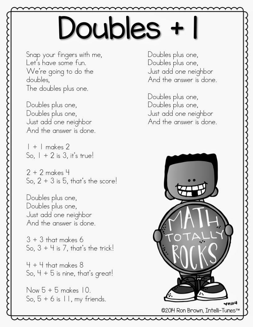 Doubles Rap Printable Warmin Up Winter Math