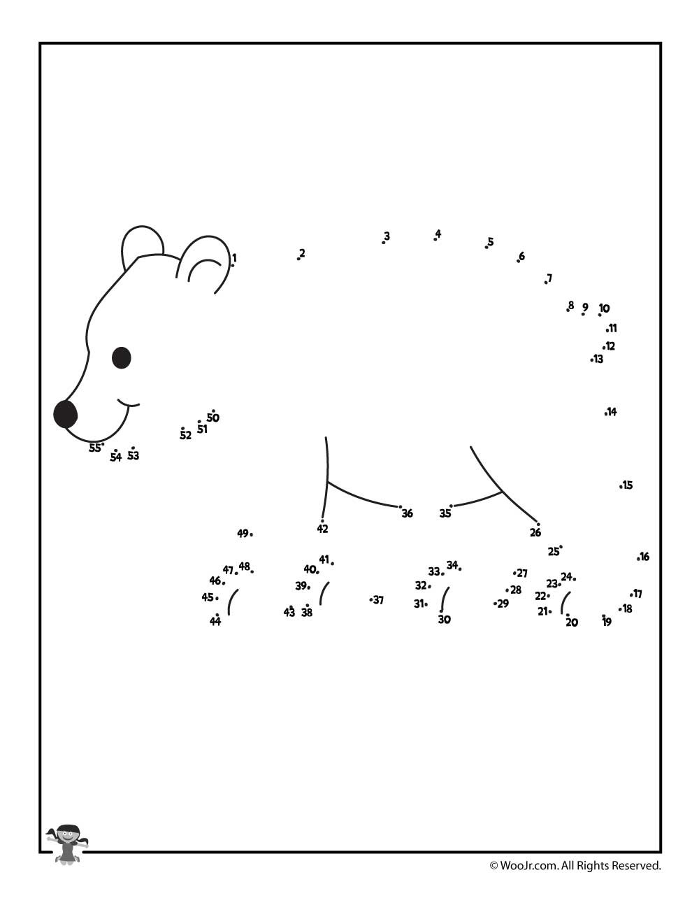 Easy Connect the Dots Printables Polar Bear Dot to Dot Printable Activity