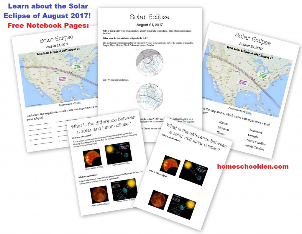 Eclipse Worksheets for Middle School Free Summer astronomy Packet solar Eclipse Aug 2017