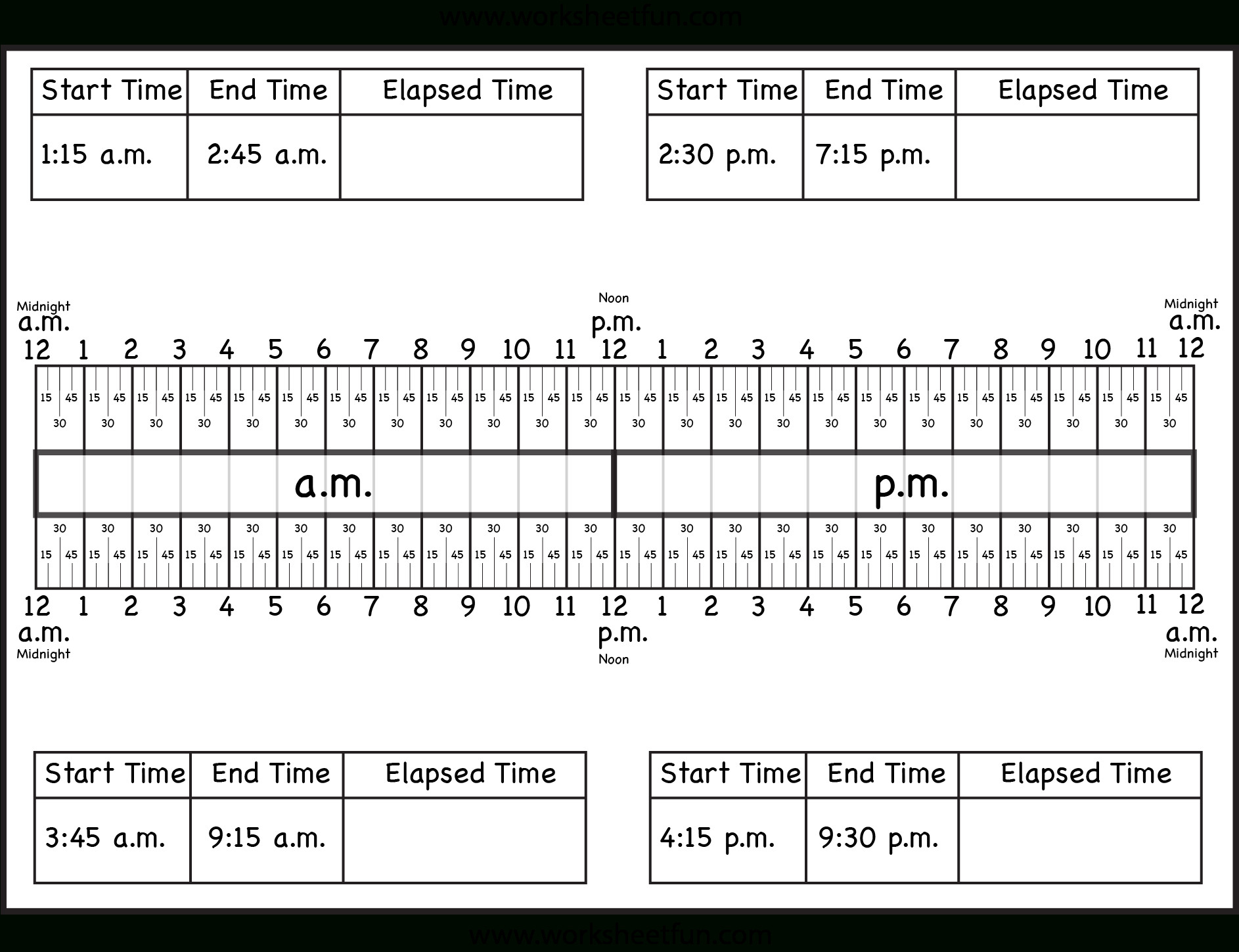 Elapsed Time 3rd Grade Worksheets Elapsed Time Worksheets with Answers