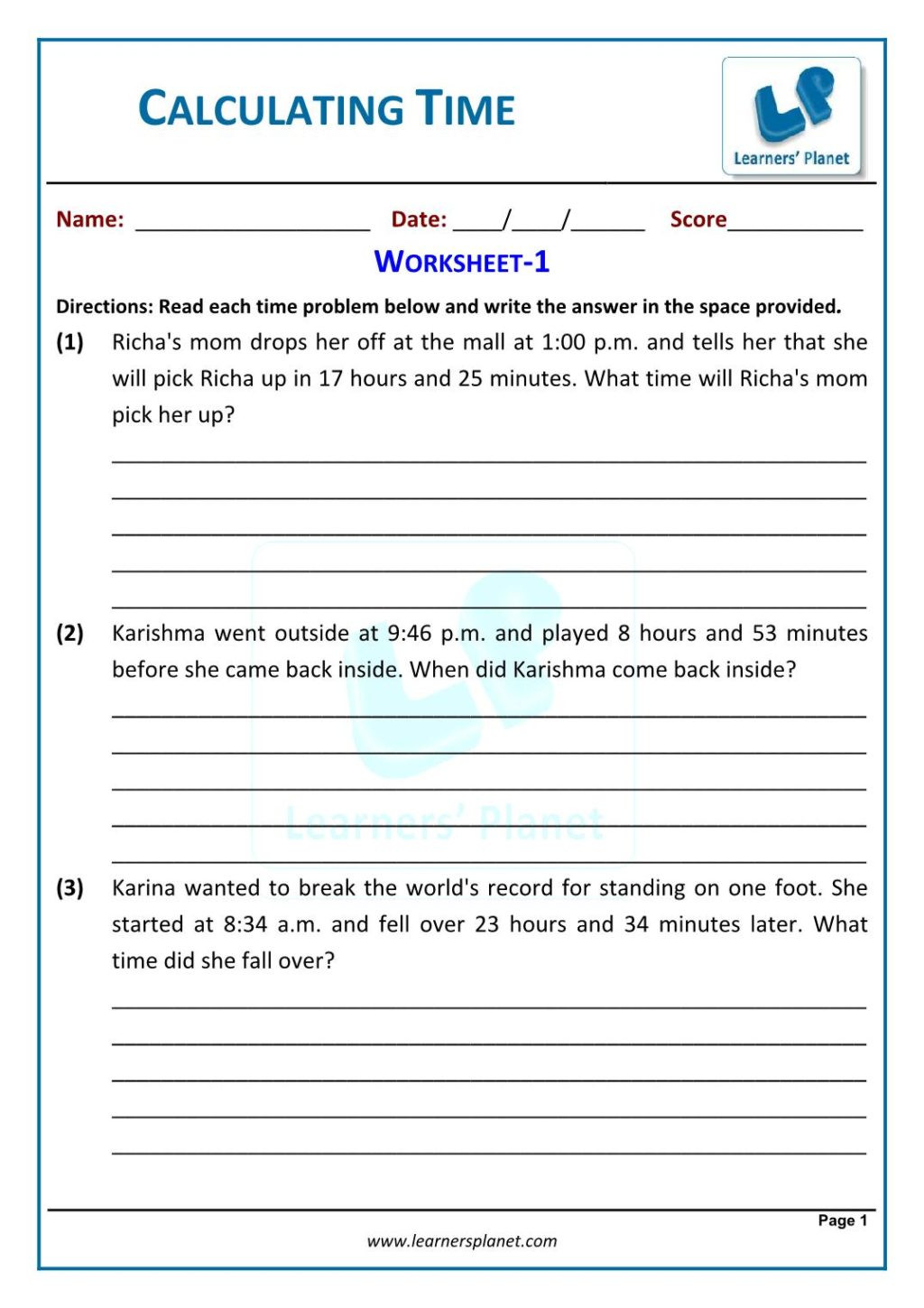 Elapsed Time 3rd Grade Worksheets Worksheet Telling Time Worksheets for 3rdde Clock Third