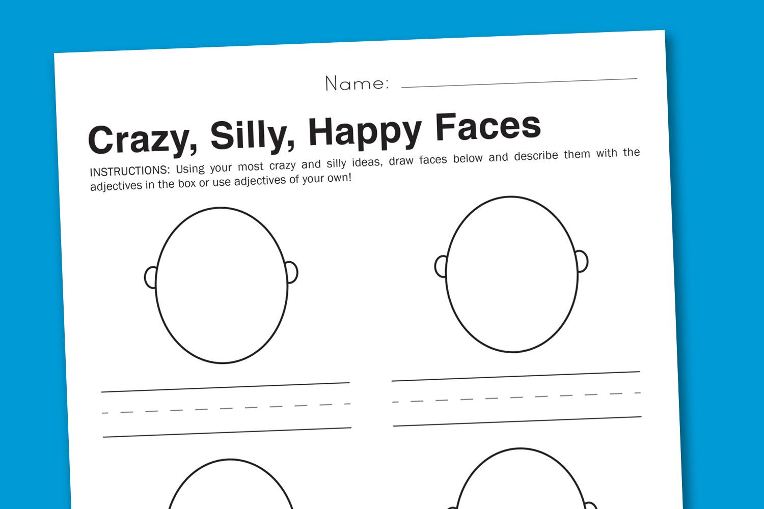 Emotions Worksheets for Preschoolers Feelings Worksheet Silly Faces to Express Emotions