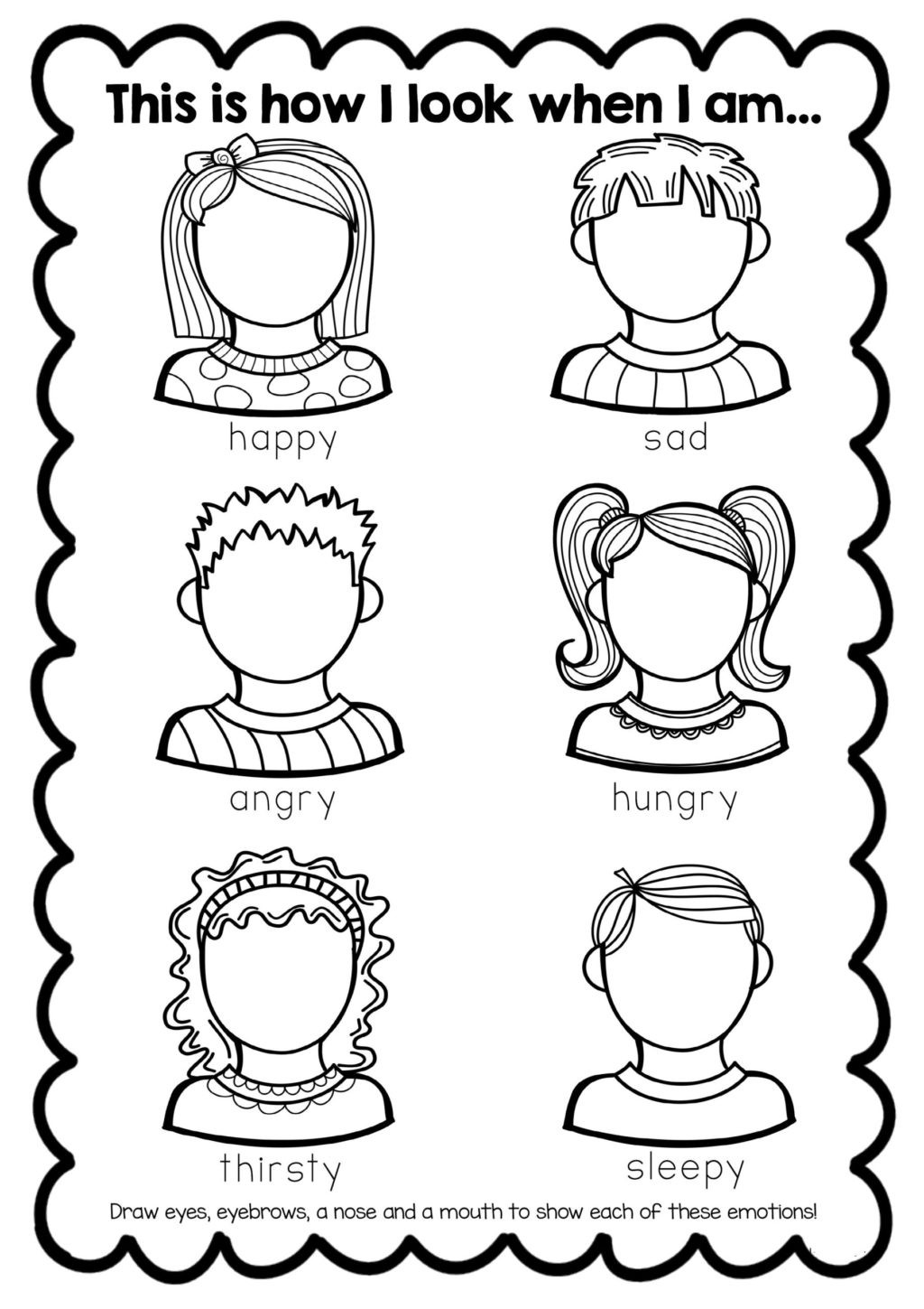 Emotions Worksheets for Preschoolers Worksheet Worksheet Kindergarten Printableksheets Math for