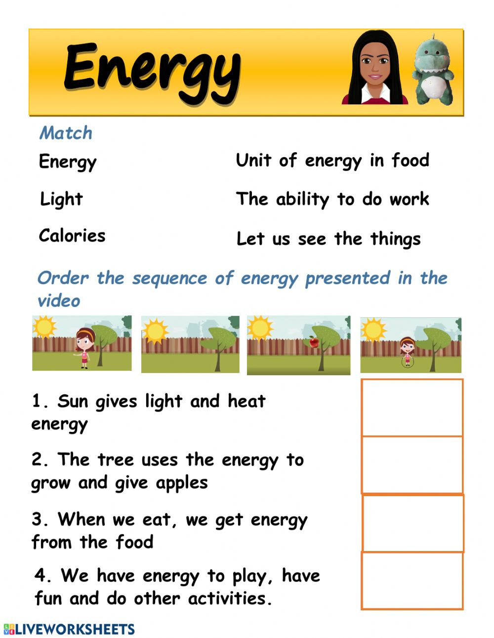Energy 4th Grade Worksheets Energy Worksheet